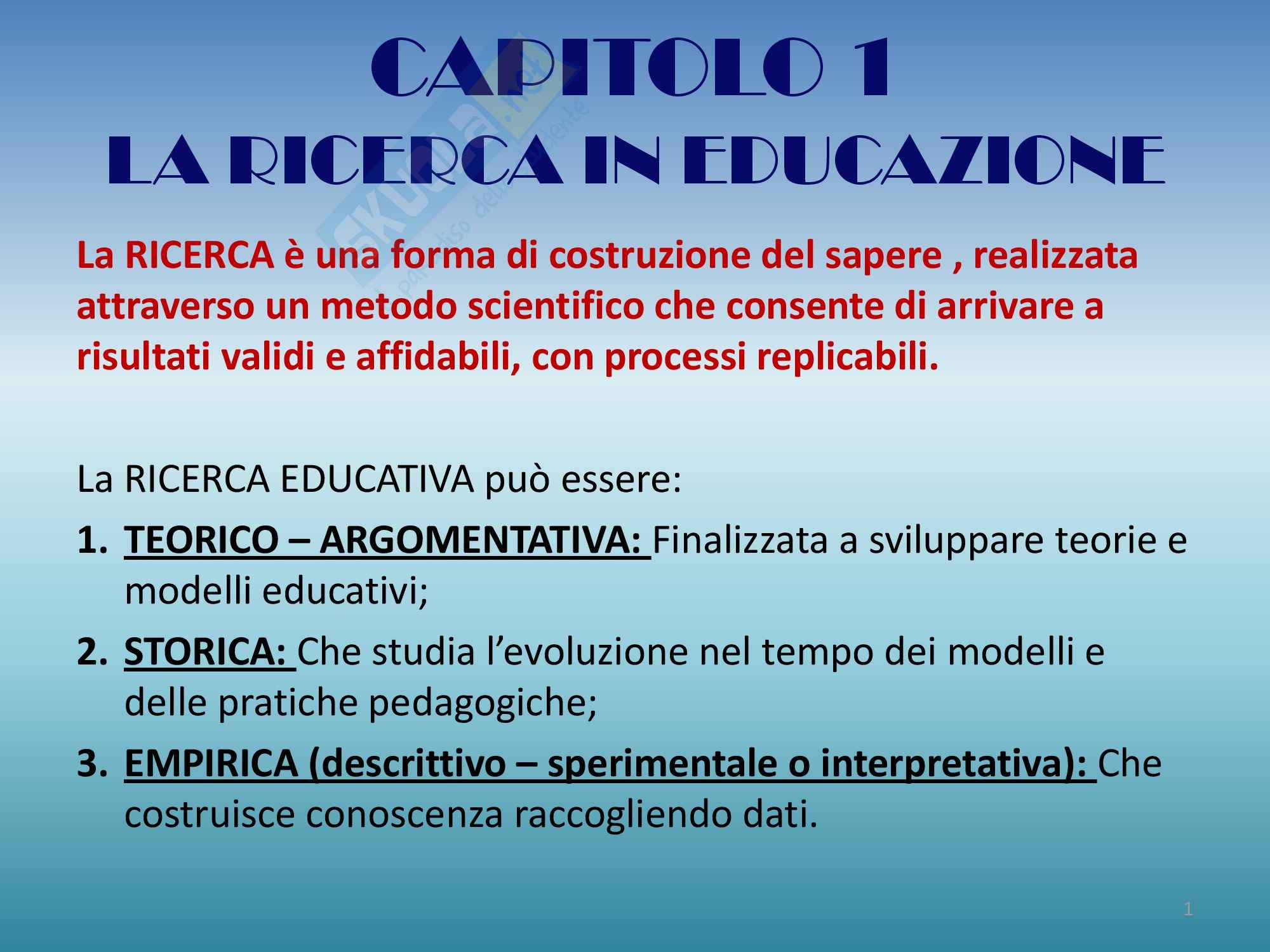 Riassunto esame Progettazione, Prof Luppi, libro consigliato Progettare la ricerca empirica in educazione ,Coggi, Ricchiardi