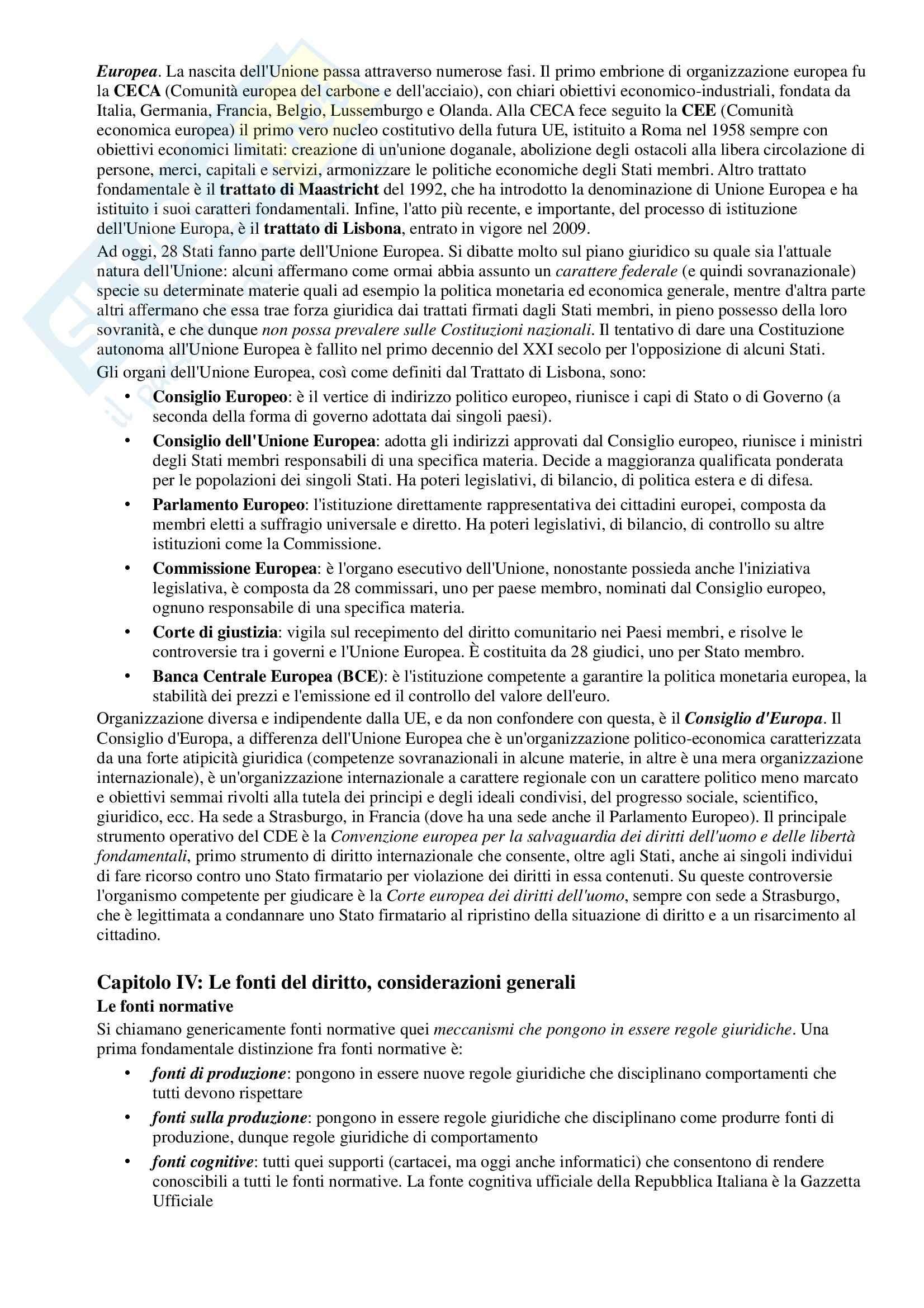 Riassunto esame Diritto Pubblico, prof. Simoncini, libro consigliato Introduzione allo studio del Diritto Pubblico e delle sue fonti, Simoncini, Groppi Pag. 6