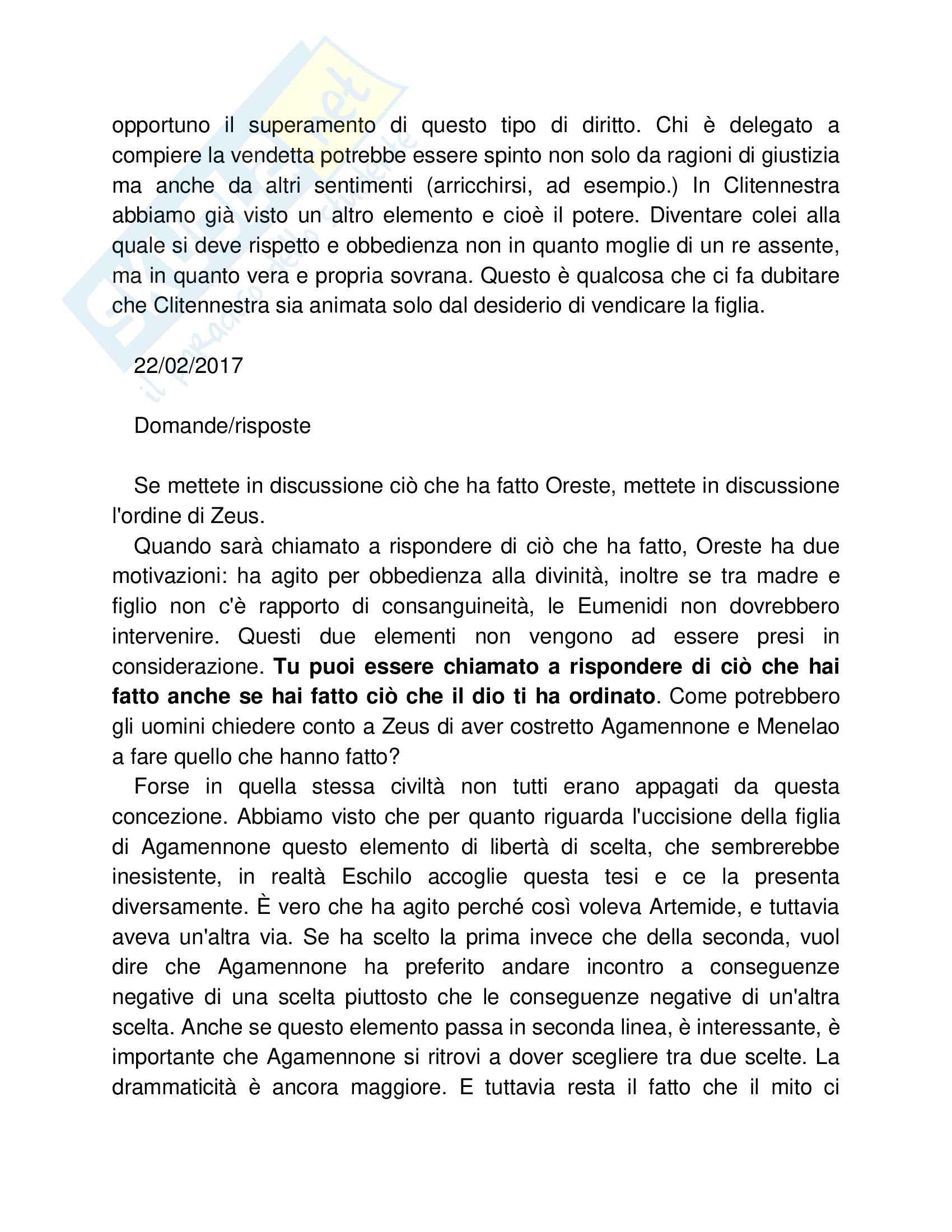 Diritto e letteratura, opzionale 6 cfu (Eschilo, Euripide, Sofocle, Shakespeare) Pag. 21