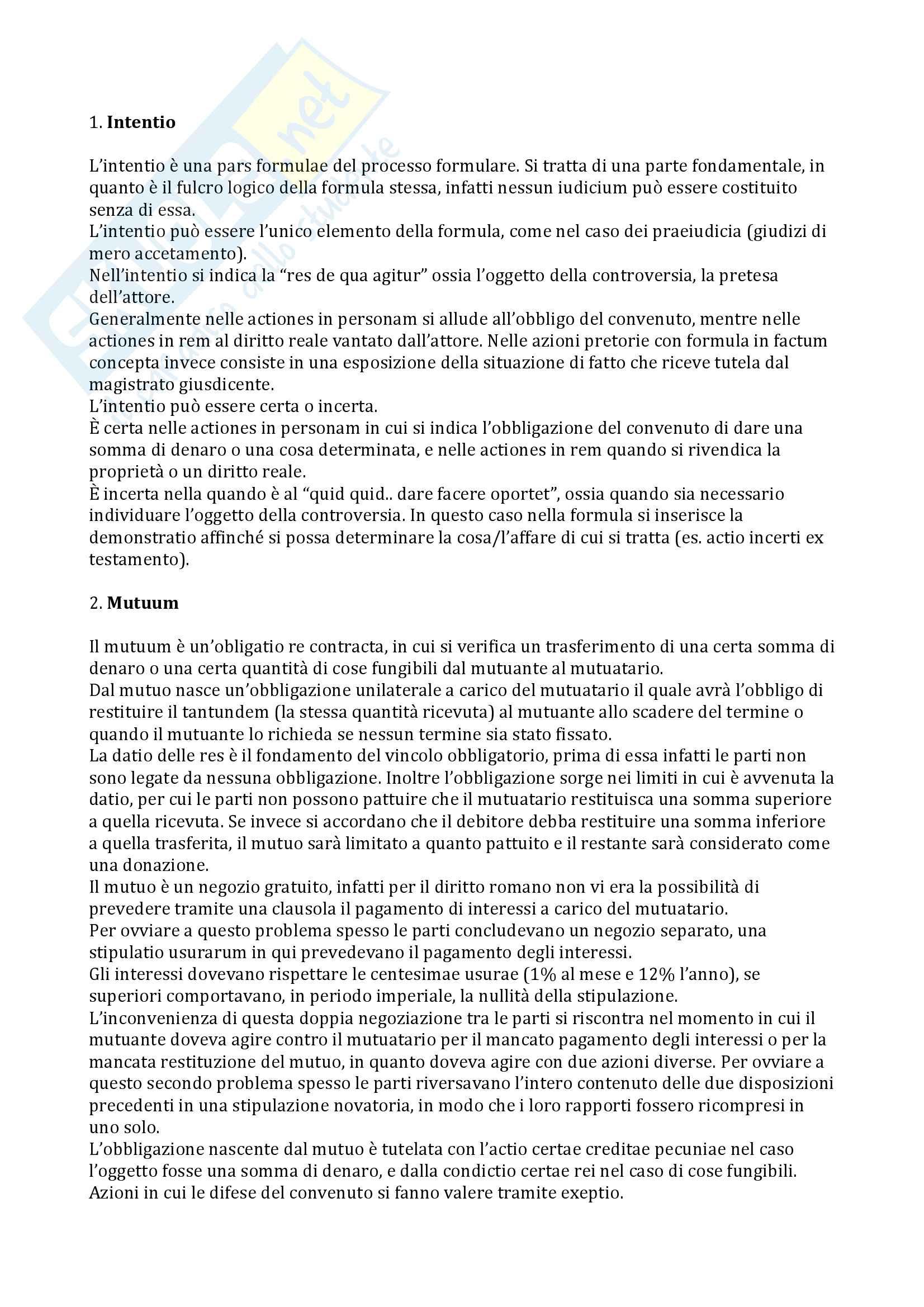 Domande esame Diritto Romano (Miglietta - trento)