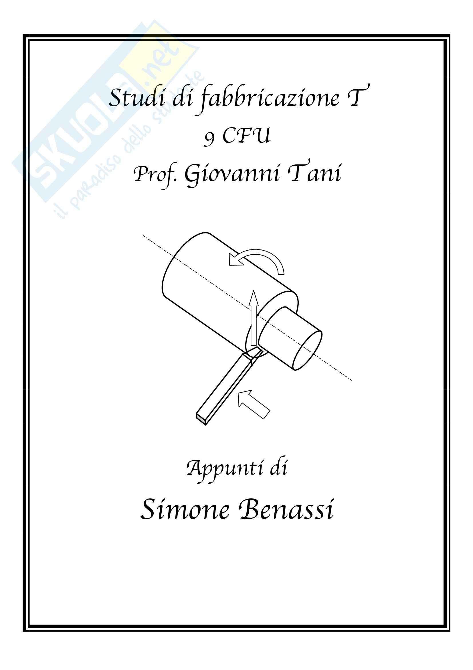 Studi di fabbricazione T-1 - Appunti