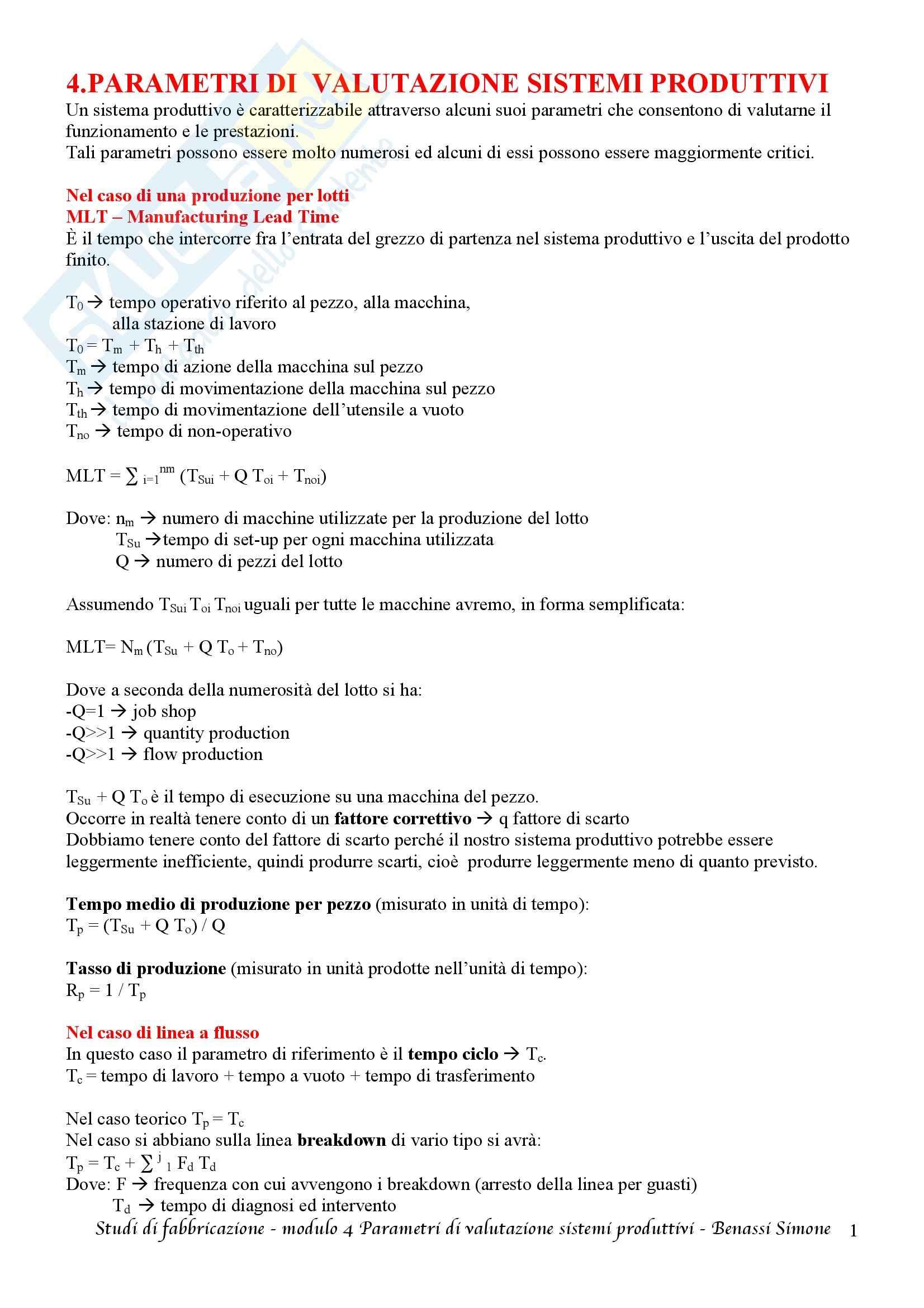 Studi di fabbricazione T-1 - Appunti Pag. 11