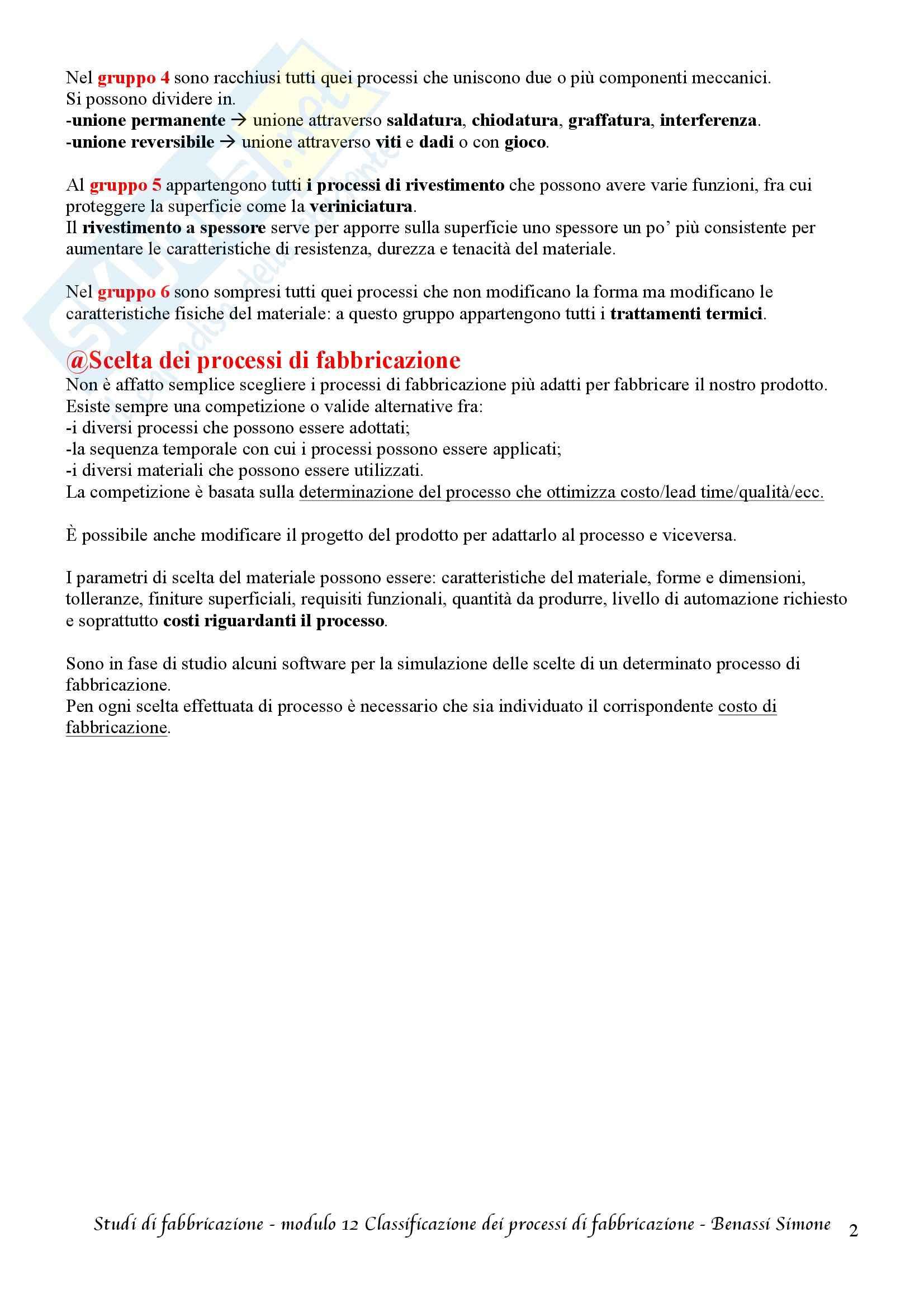 Studi di fabbricazione T-1 - Appunti Pag. 41
