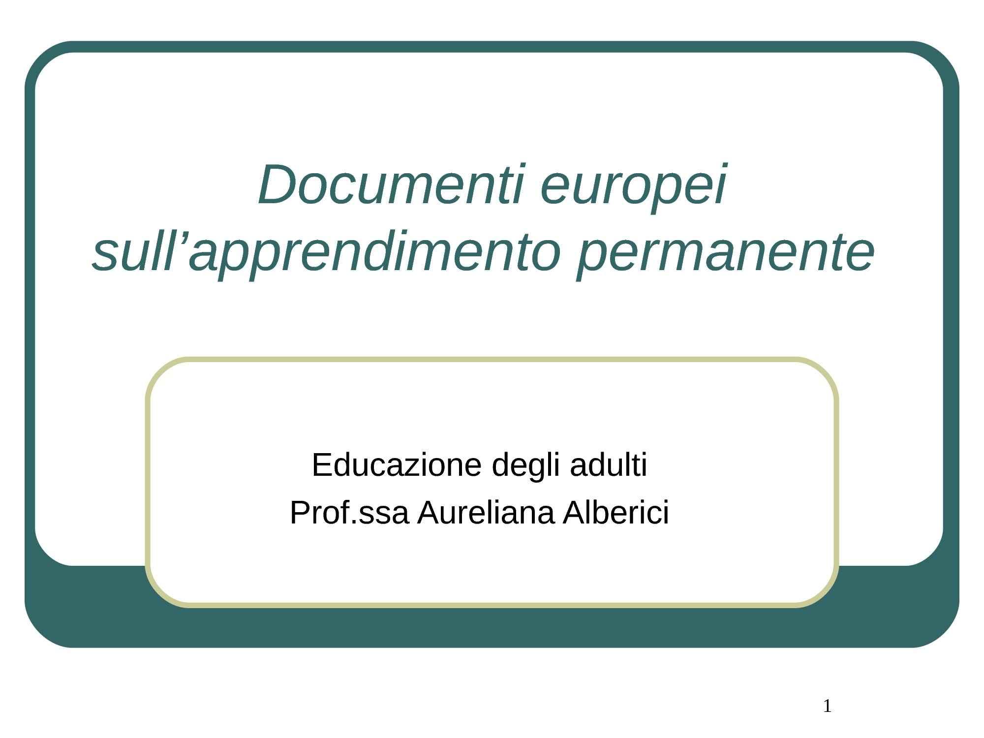Educare gli adulti - Azione europea