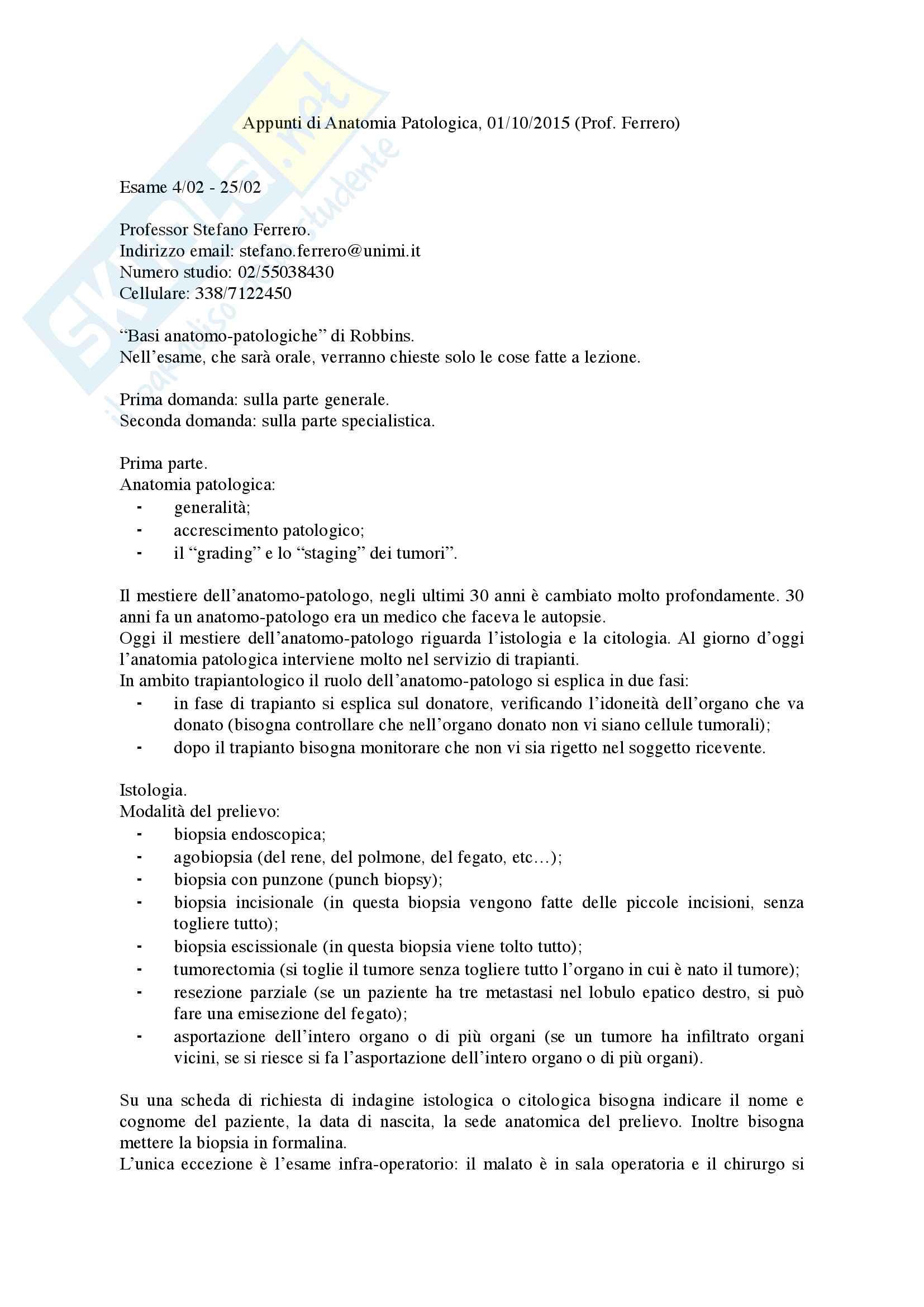 Appunti di Anatomia Patologica
