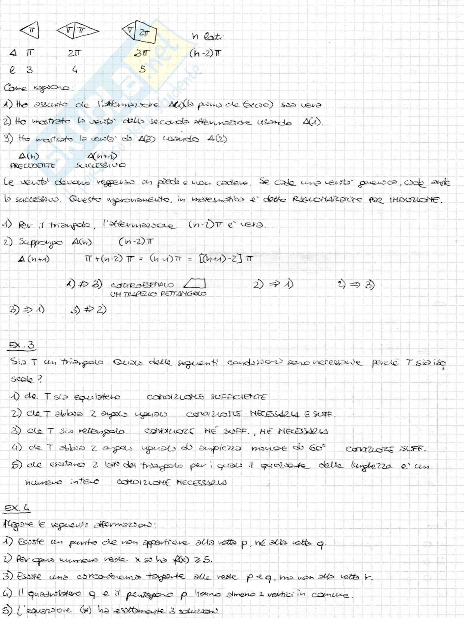 Appunti ed esercizi svolti di Matematica di base, Matematica di base, Pietro Zecca Pag. 2
