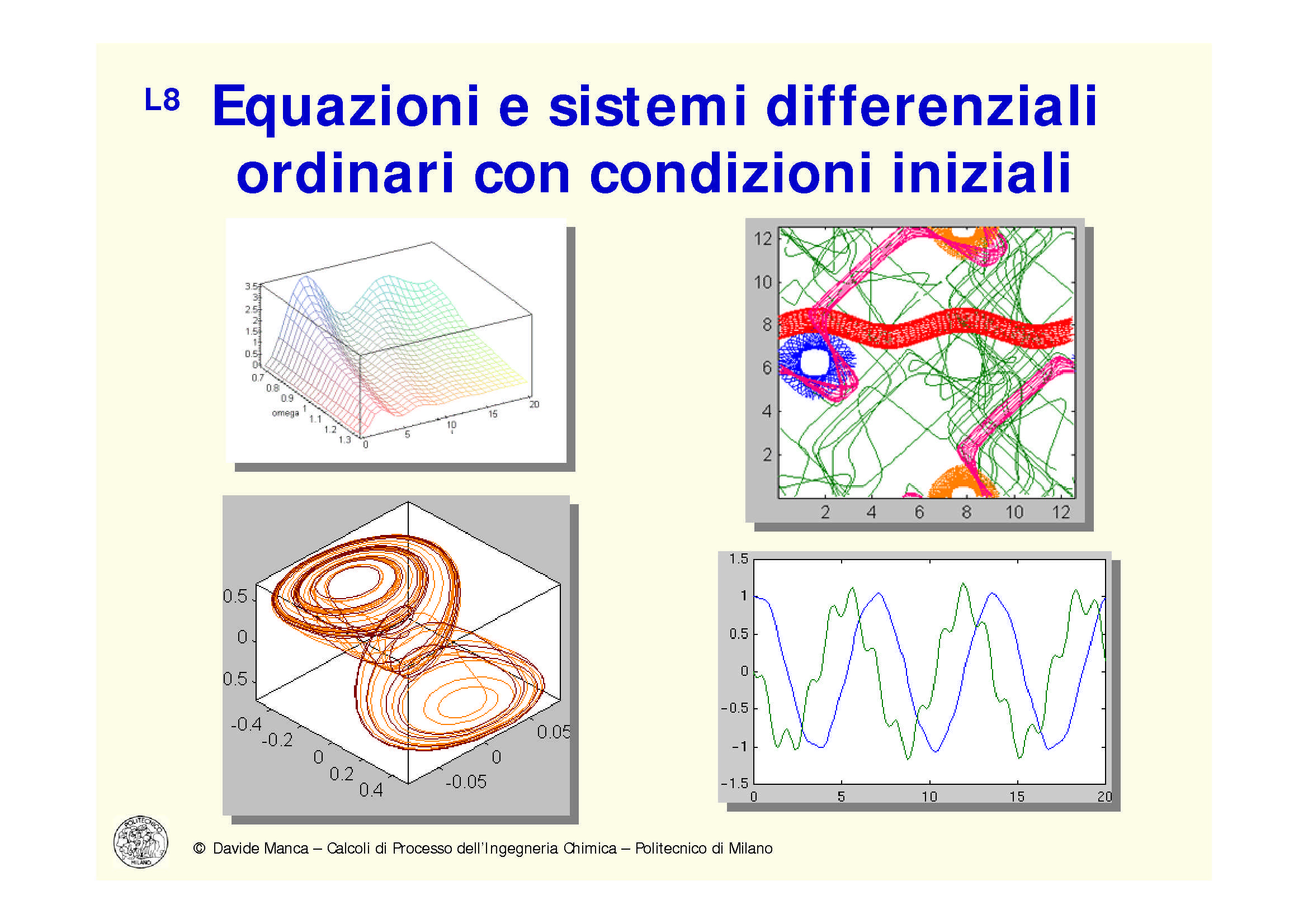 Equazioni e sistemi differenziali ordinari
