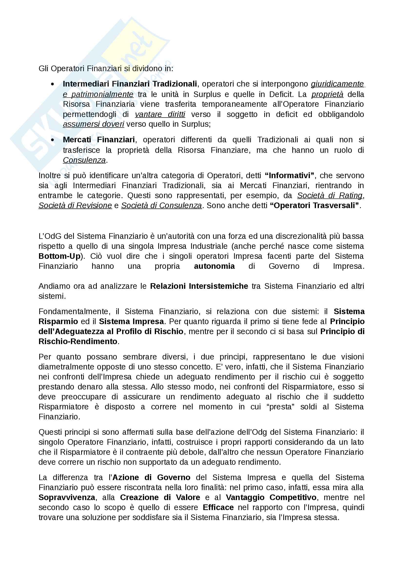 Appunti economia e gestione delle imprese parte 2, prof. gatti/vagnani Pag. 2