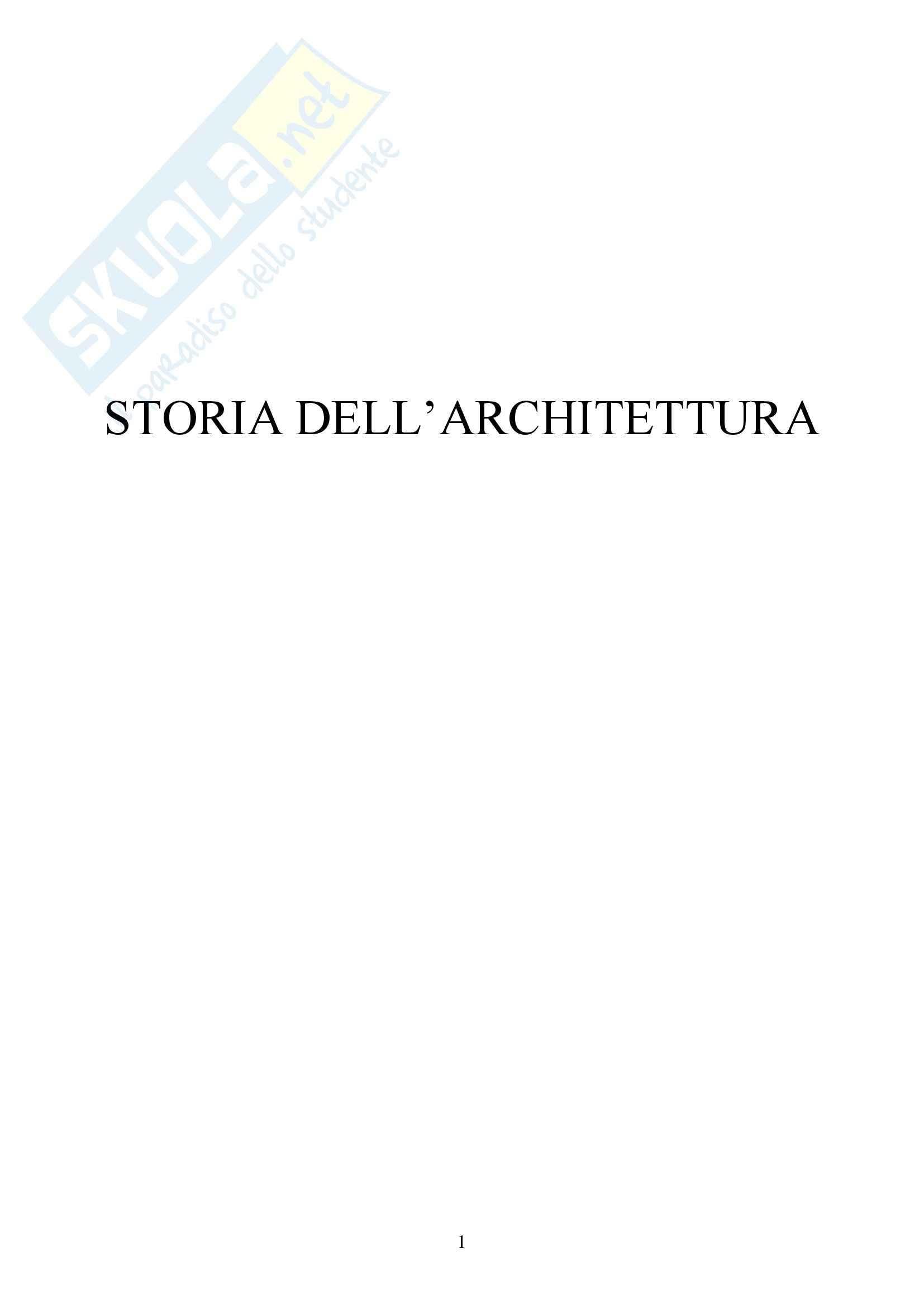 Riassunto esame Storia dell'Architettura Italiana - DAL '400 al '750, prof. Bulgarelli