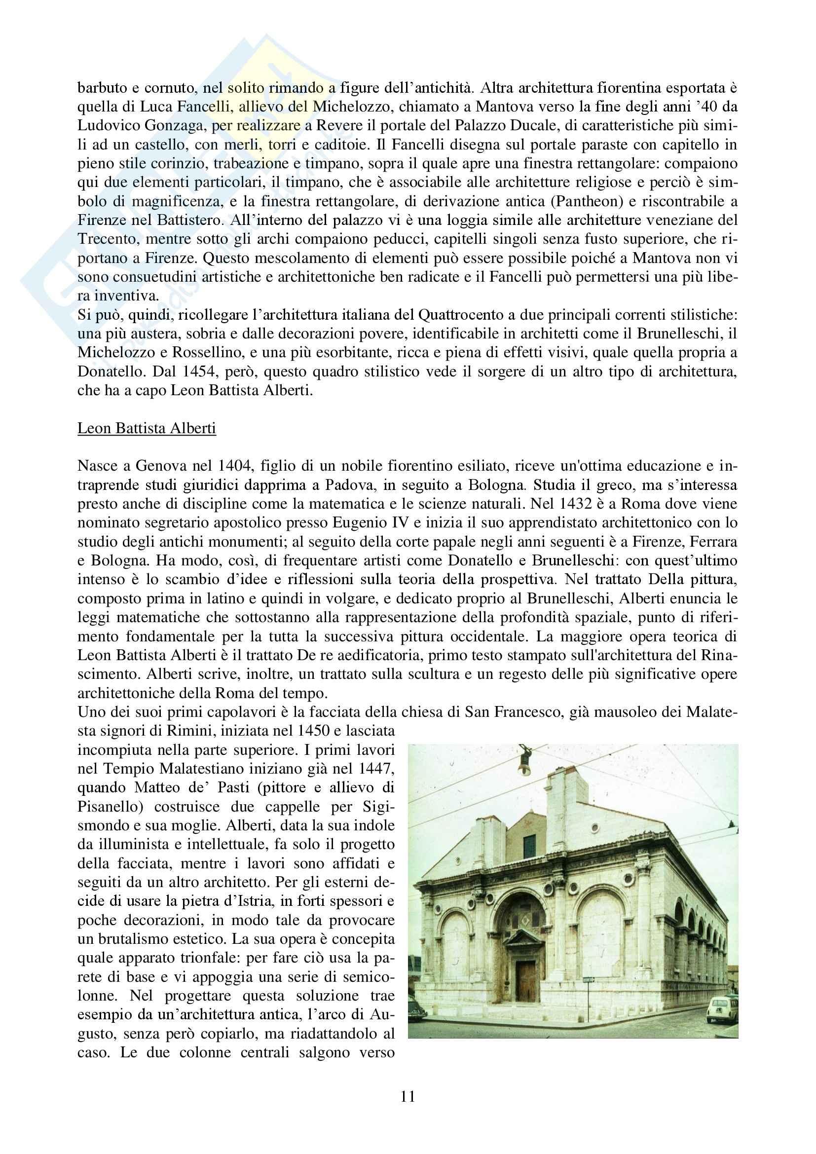 Riassunto esame Storia dell'Architettura Italiana - DAL '400 al '750, prof. Bulgarelli Pag. 11