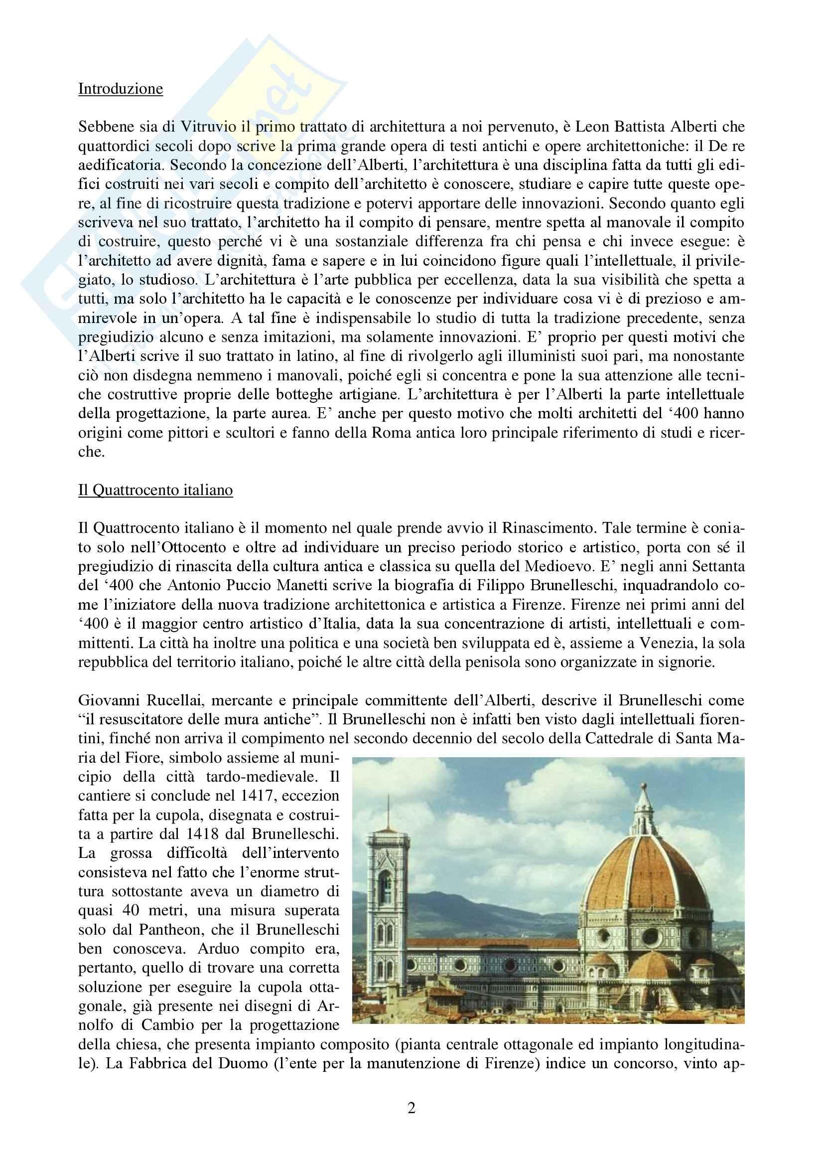 Riassunto esame Storia dell'Architettura Italiana - DAL '400 al '750, prof. Bulgarelli Pag. 2