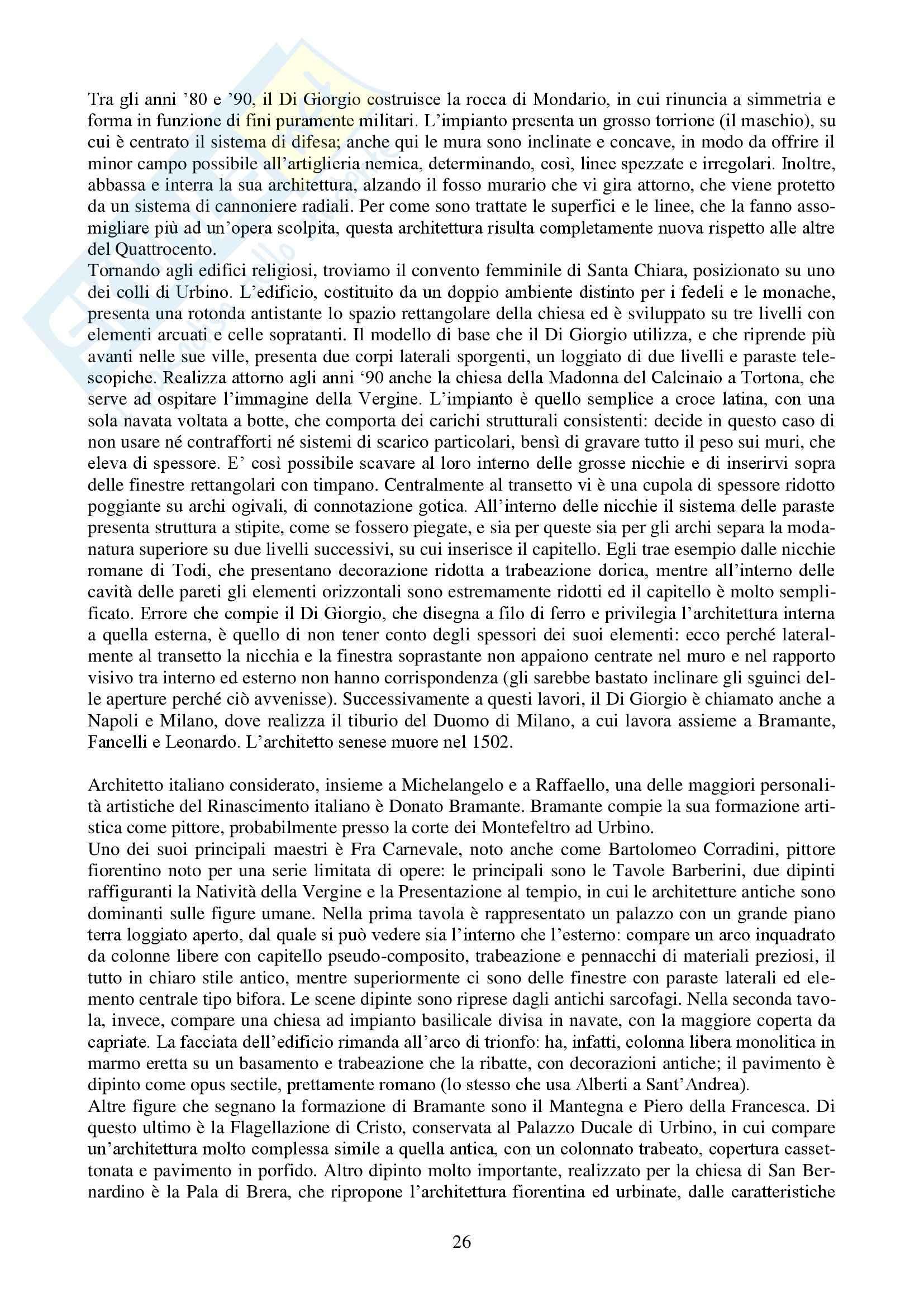 Riassunto esame Storia dell'Architettura Italiana - DAL '400 al '750, prof. Bulgarelli Pag. 26