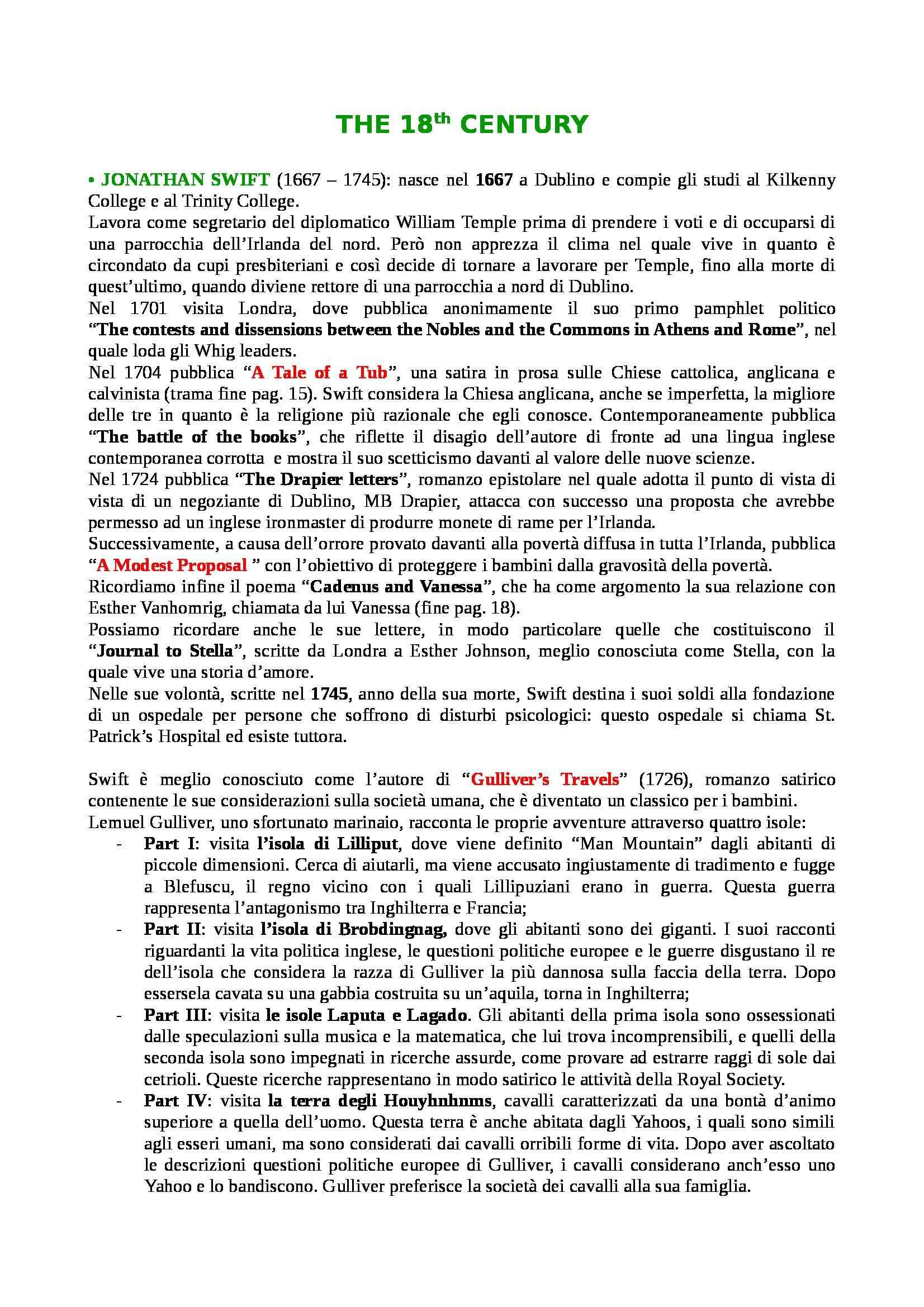 Riassunto esame Letteratura Inglese, prof. Reggiani, libro consigliato Irish Writers, Jeffaires