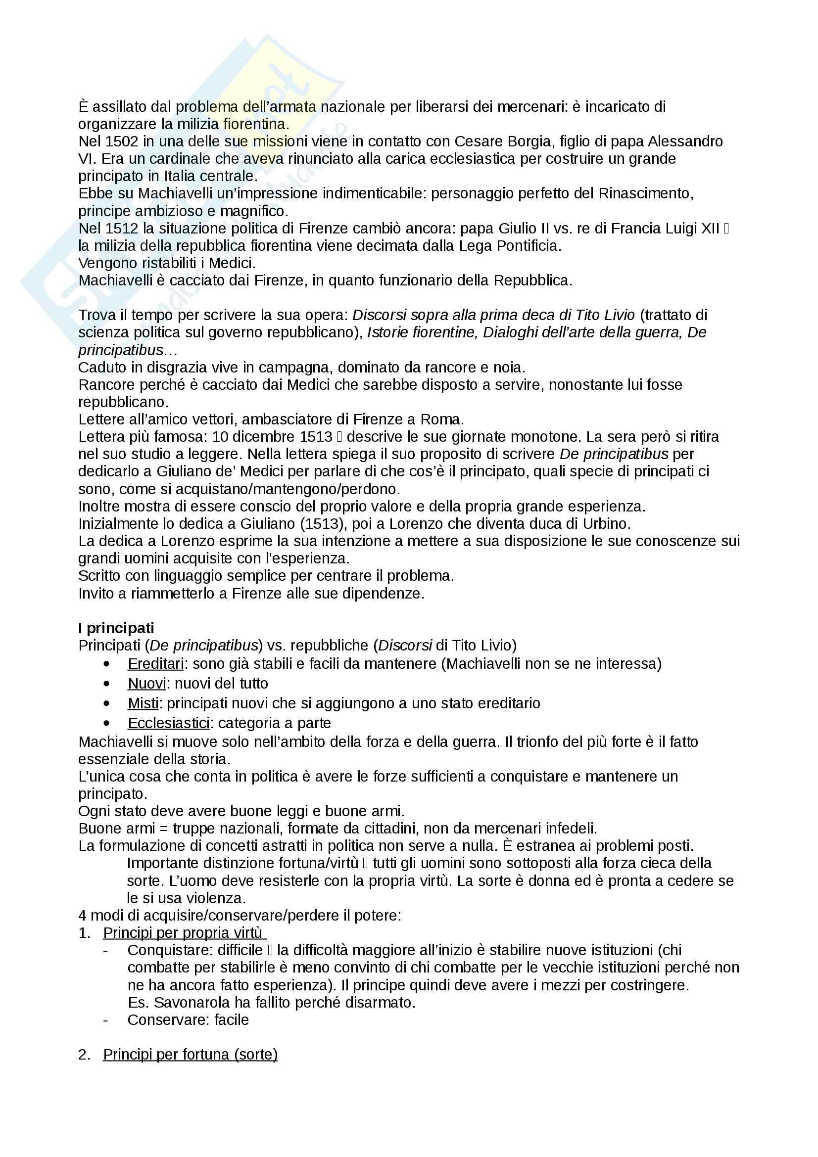 Riassunto esame storia delle dottrine politiche, prof. Del Corno, libro consigliato: Le grandi opere del pensiero politico, Jean-Jacques Chevallier Pag. 2