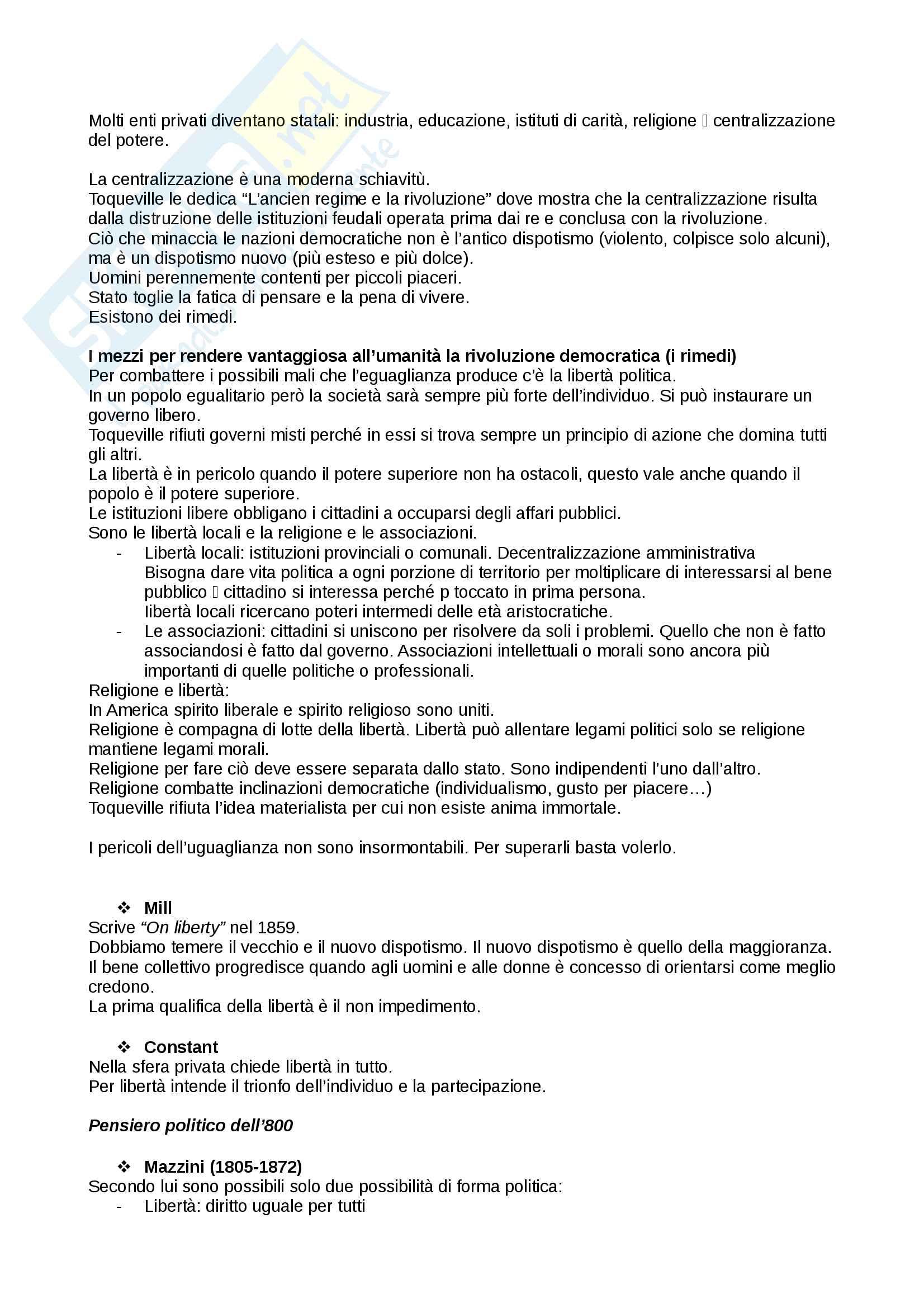 Riassunto esame storia delle dottrine politiche, prof. Del Corno, libro consigliato: Le grandi opere del pensiero politico, Jean-Jacques Chevallier Pag. 36
