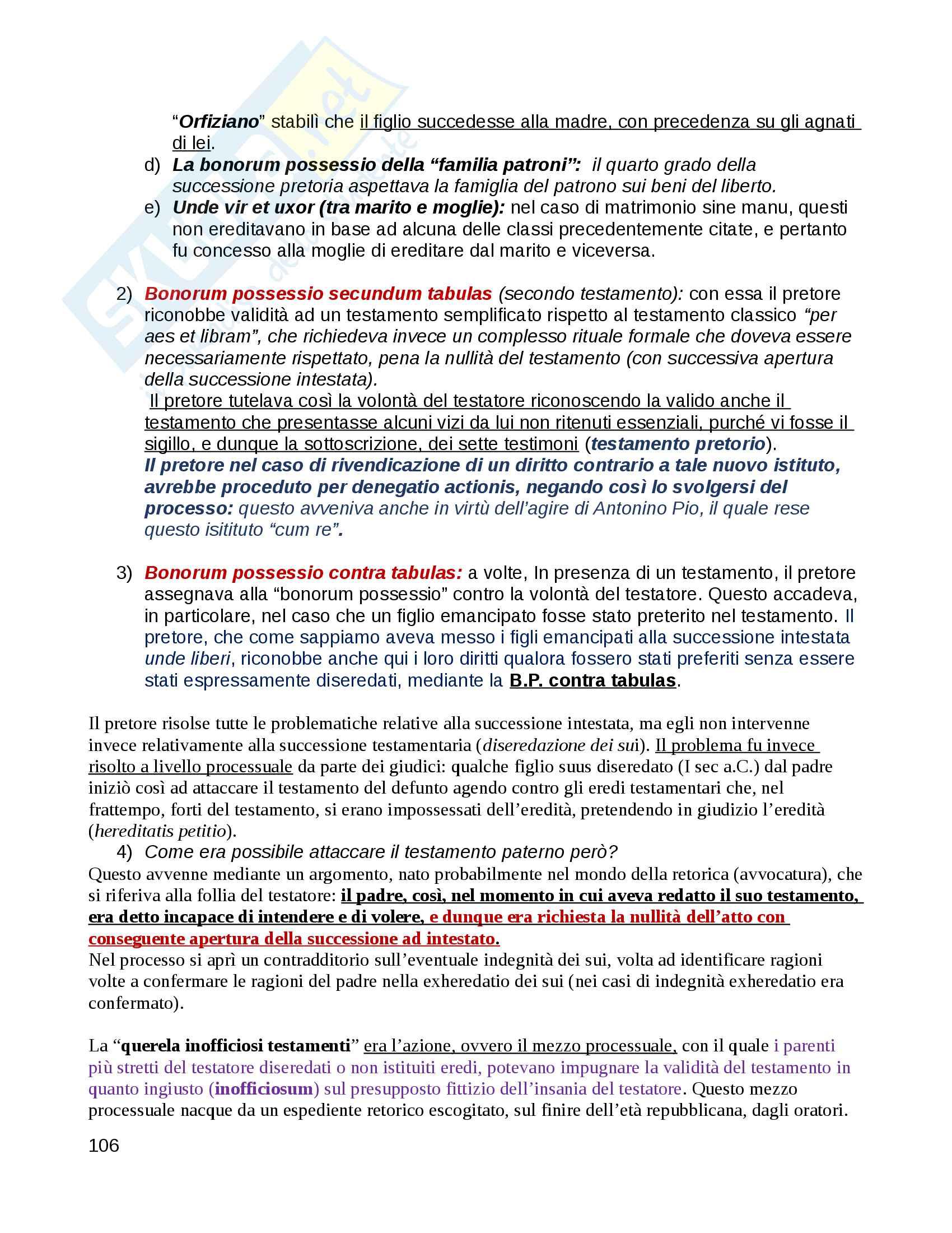 Istituzioni di Diritto Romano - Professor Pergami - Professor Gagliardi Pag. 106