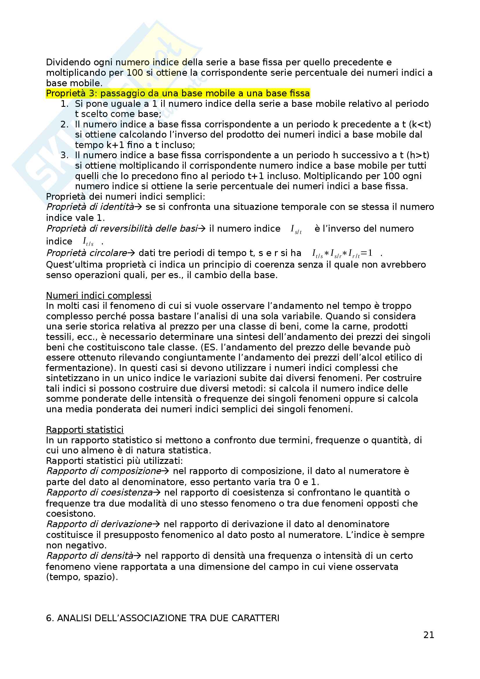 Appunti di Statistica Pag. 21