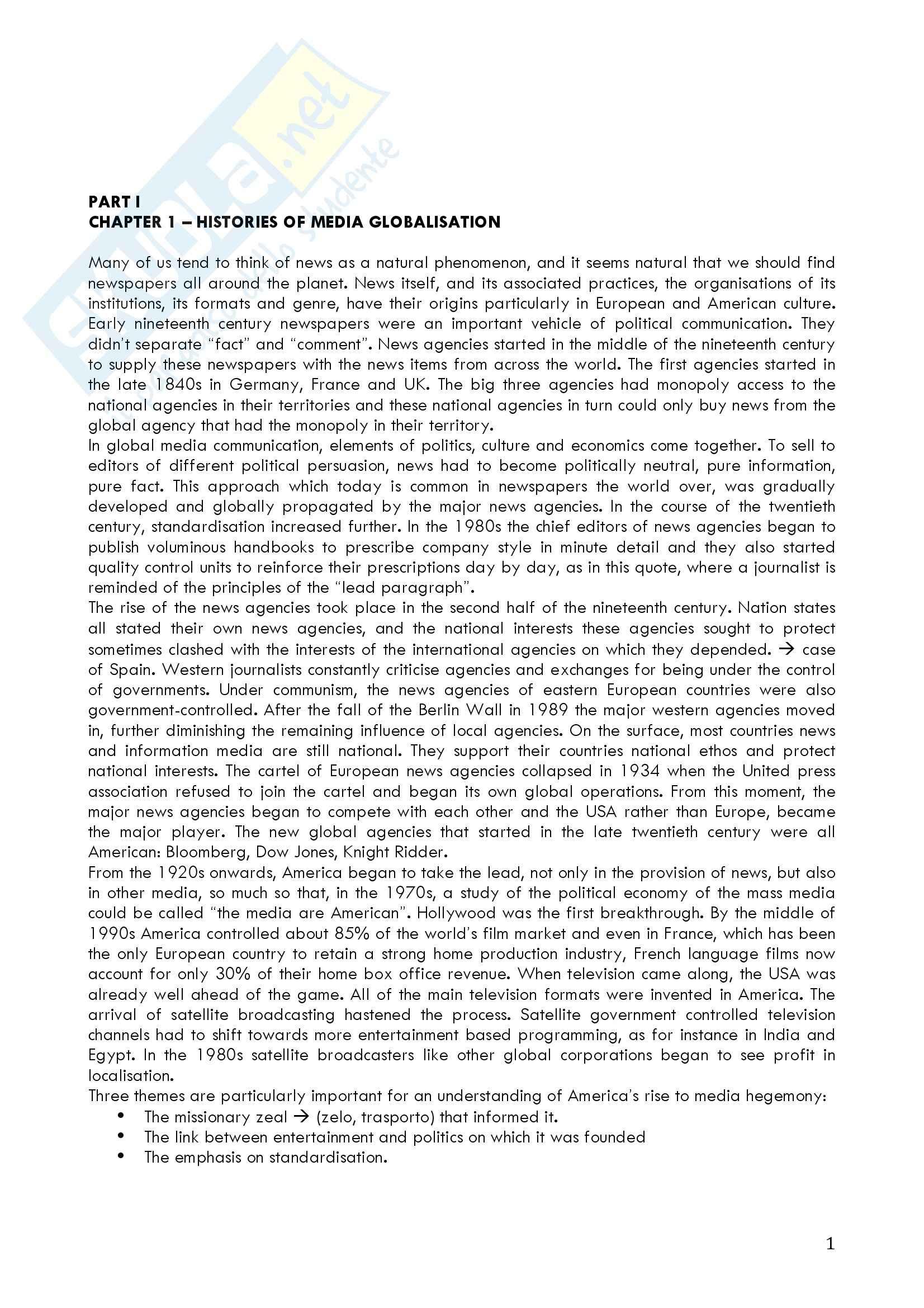 Riassunto esame Lettorato di Lingua Inglese, prof. Solly, libro consigliato Global Media Discourse di Machin e Van Leeuwen