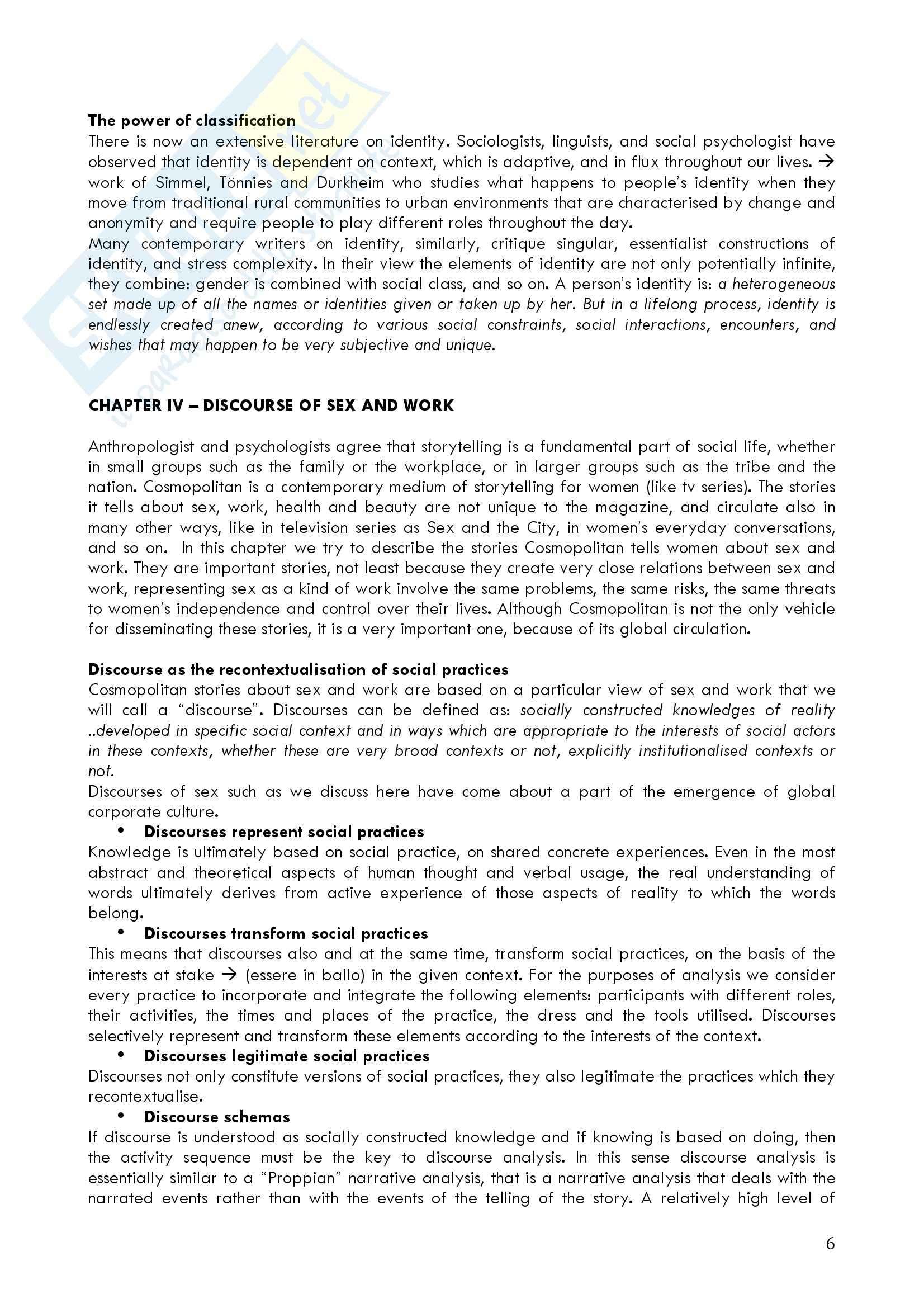 Riassunto esame Lettorato di Lingua Inglese, prof. Solly, libro consigliato Global Media Discourse di Machin e Van Leeuwen Pag. 6