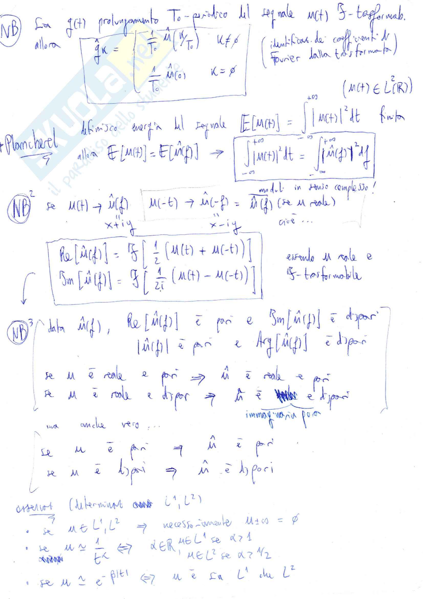 Formulario metodi matematici per l'ingegneria