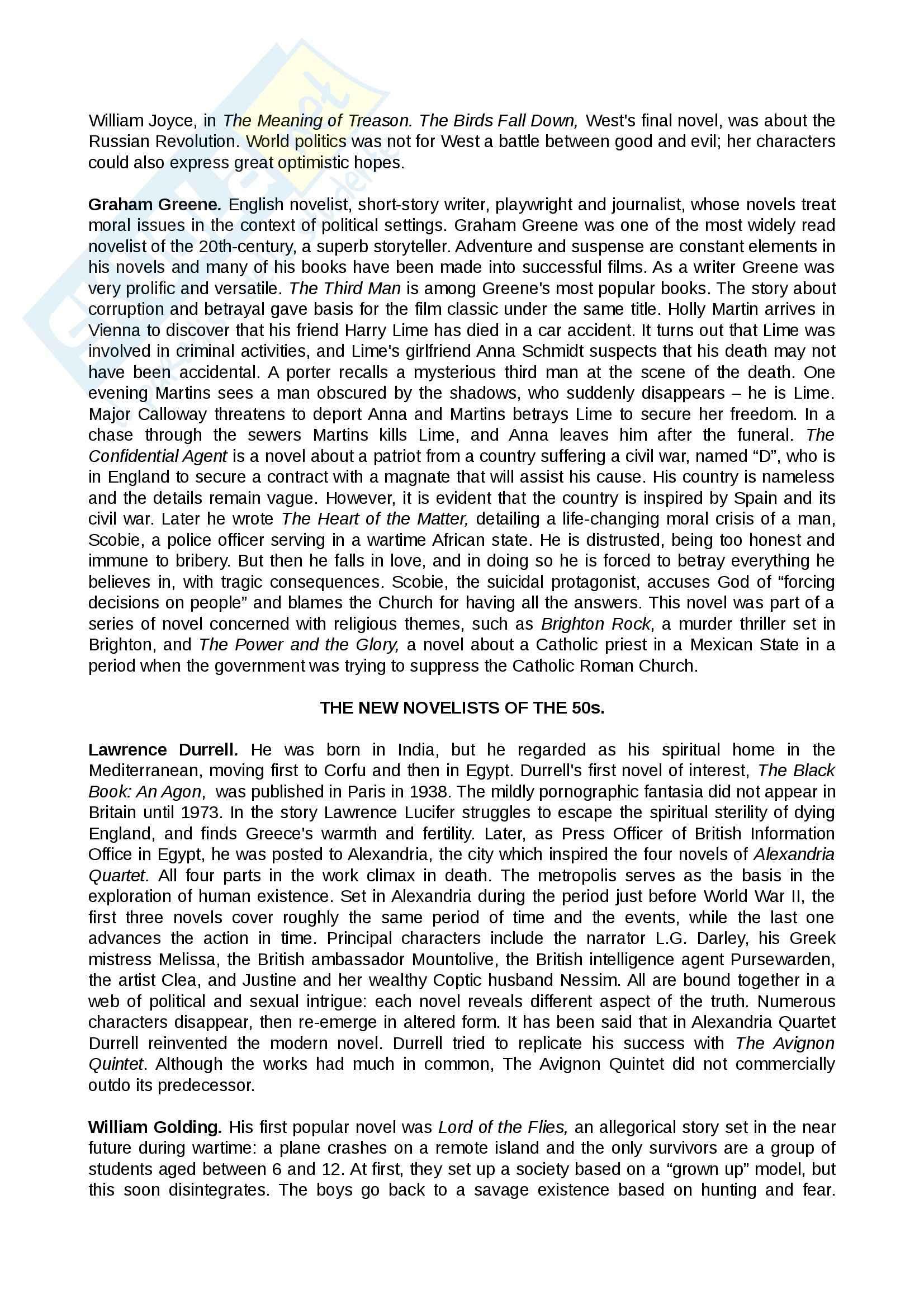 Riassunto esame Letteratura inglese, prof. Cavone, libro consigliato The Short Oxford English Literature, Sanders Pag. 2