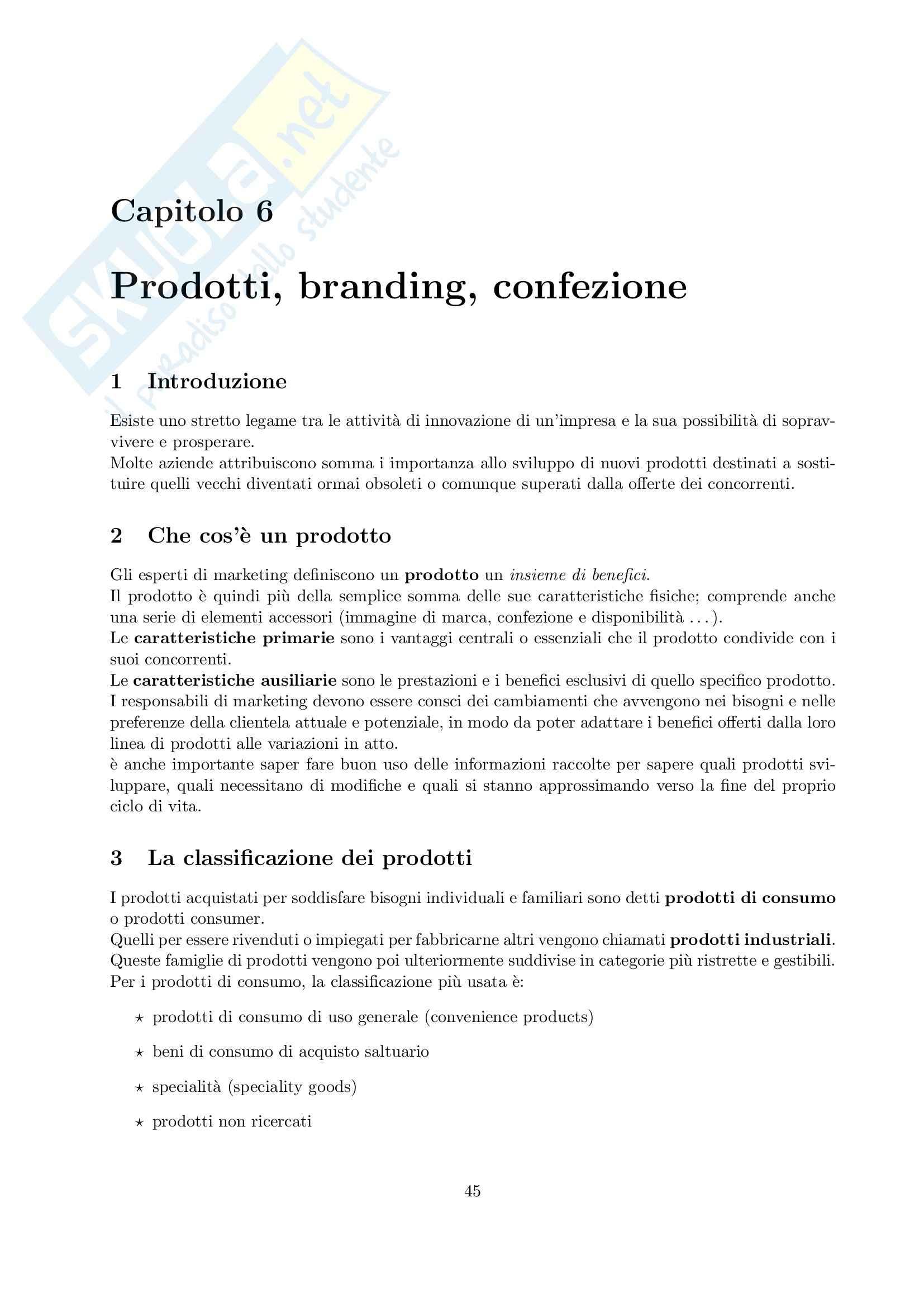 Riassunto esame Marketing, prof. Cedrola, libro consigliato Fondamenti di marketing, Cedrola, Blythe Pag. 46
