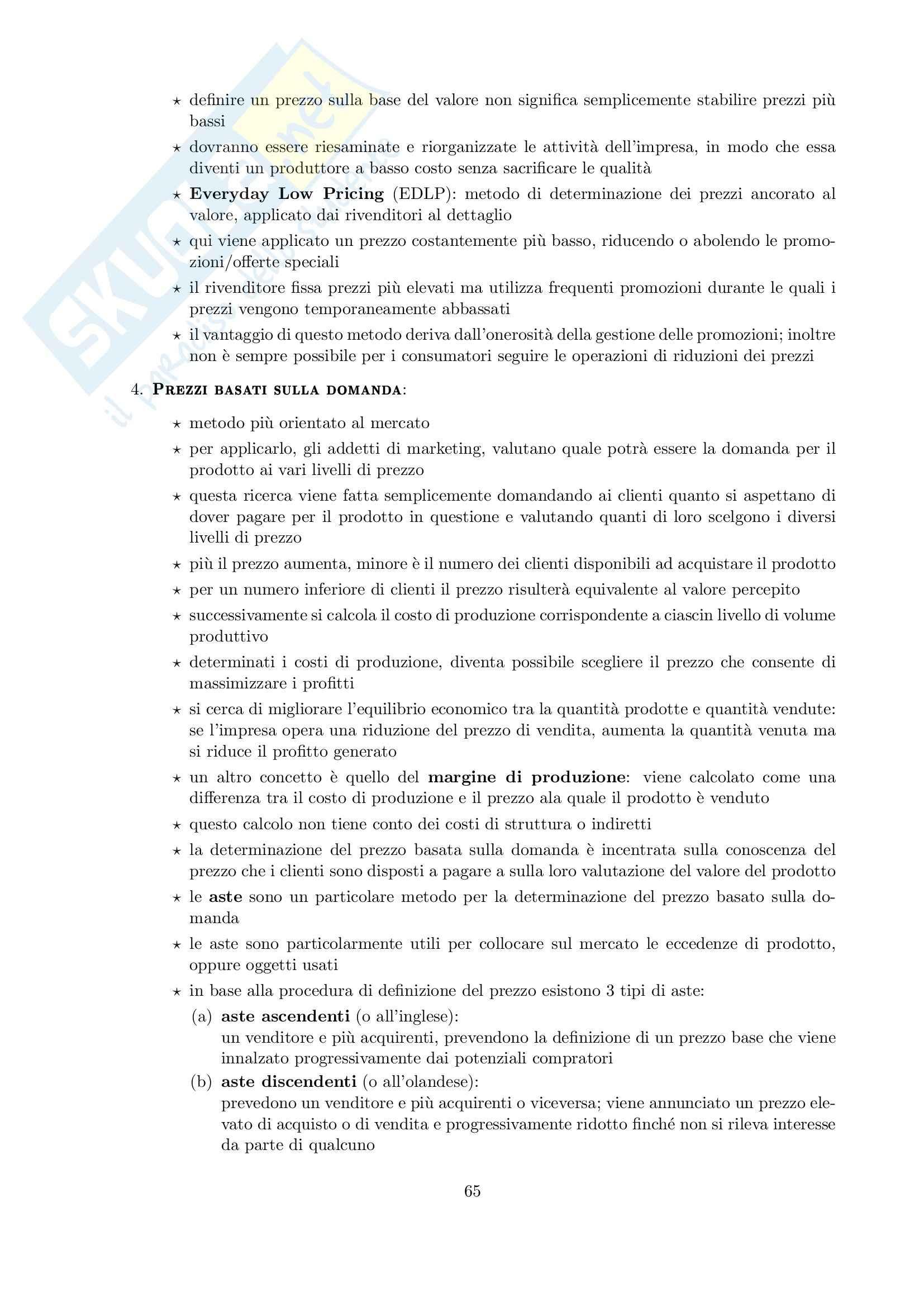 Riassunto esame Marketing, prof. Cedrola, libro consigliato Fondamenti di marketing, Cedrola, Blythe Pag. 66