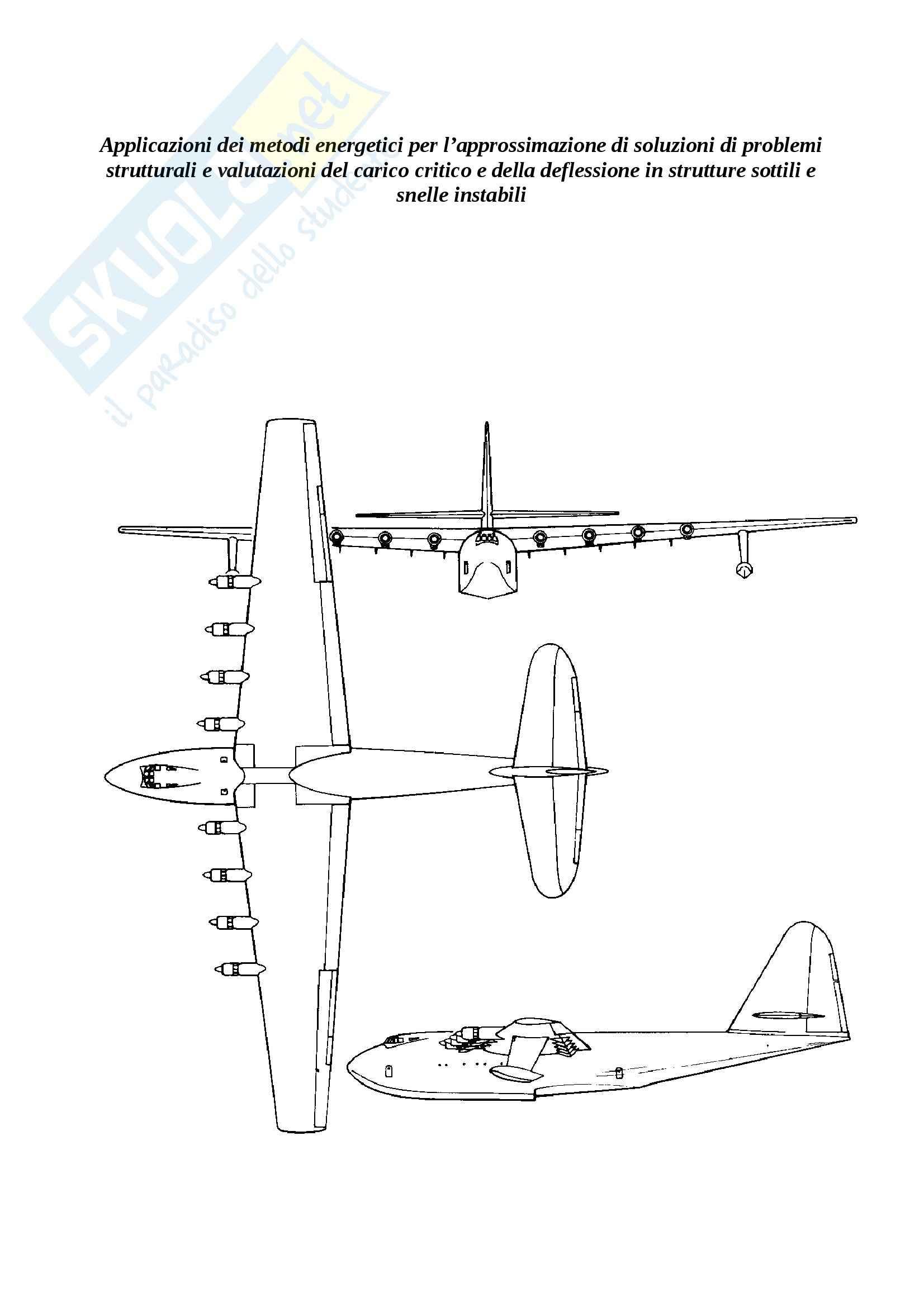 Applicazioni dei metodi energetici, Costruzioni aeronautiche