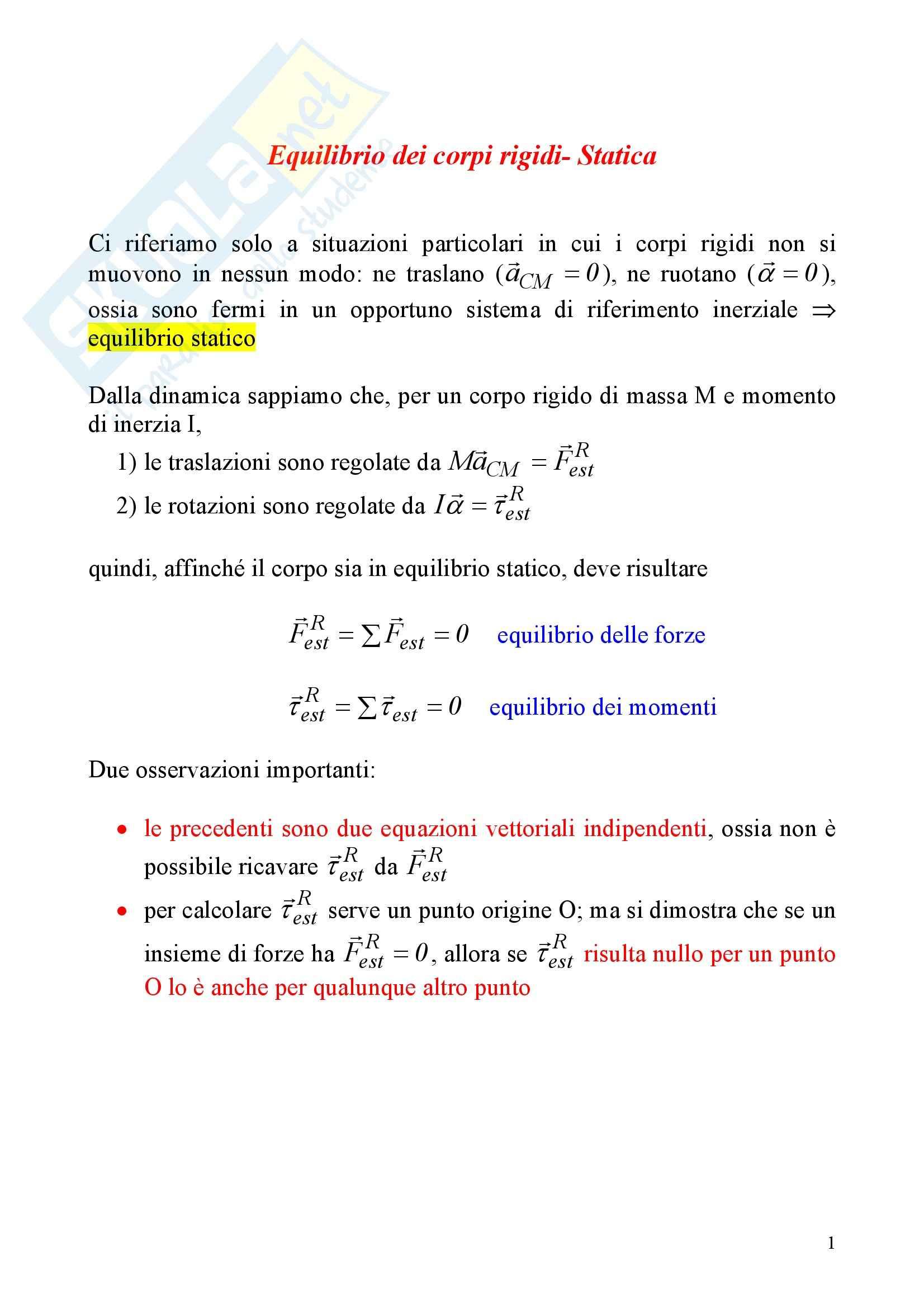 Fisica statistica ed informatica – Statica