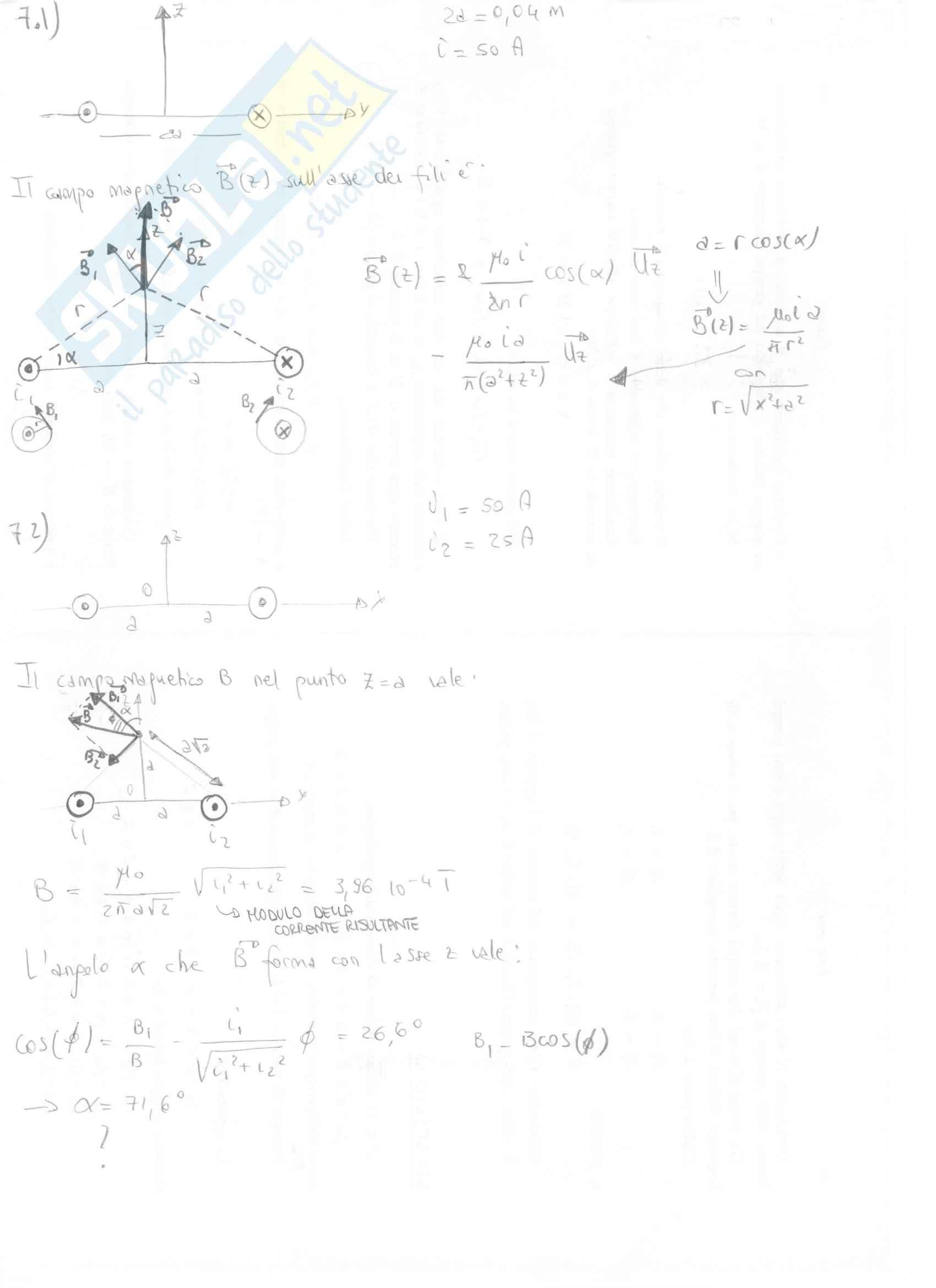 Fisica II - Esercizi svolti capitoli 7 e 8