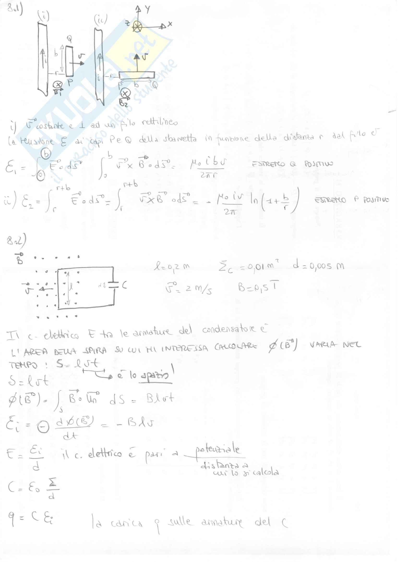 Fisica II - Esercizi svolti capitoli 7 e 8 Pag. 11