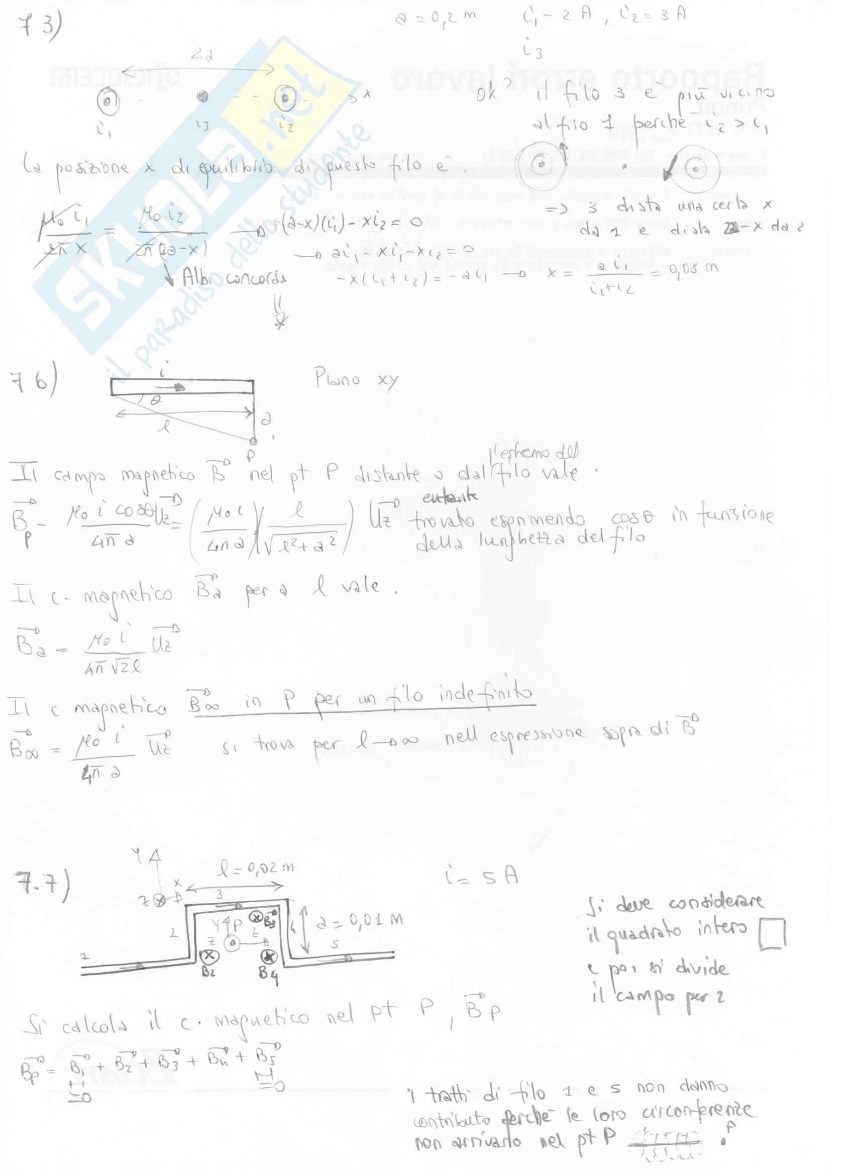 Fisica II - Esercizi svolti capitoli 7 e 8 Pag. 2