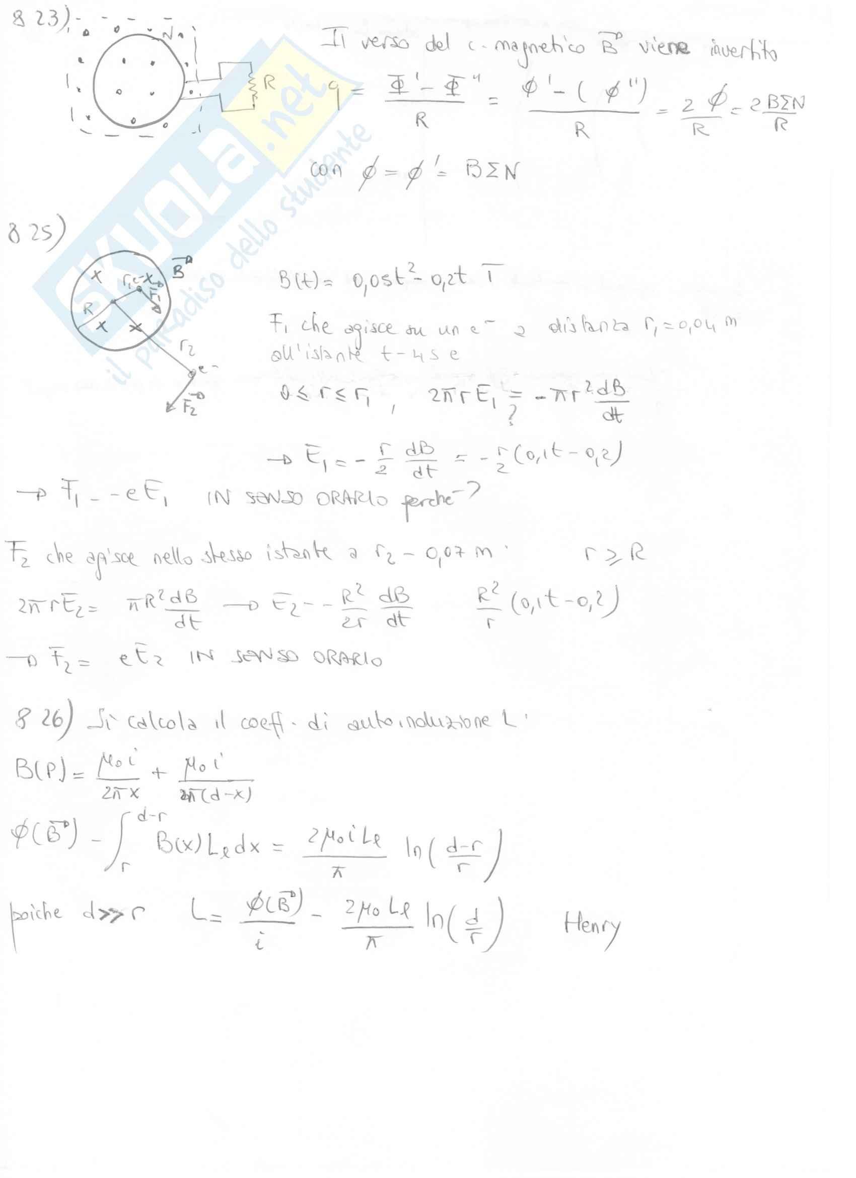 Fisica II - Esercizi svolti capitoli 7 e 8 Pag. 21