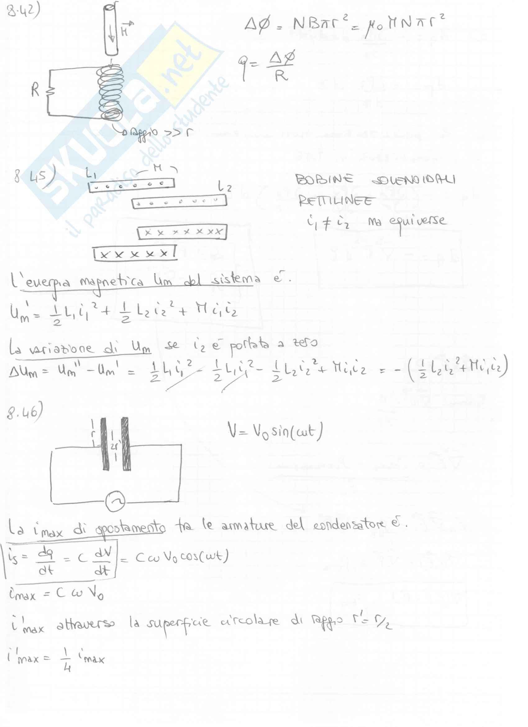 Fisica II - Esercizi svolti capitoli 7 e 8 Pag. 26