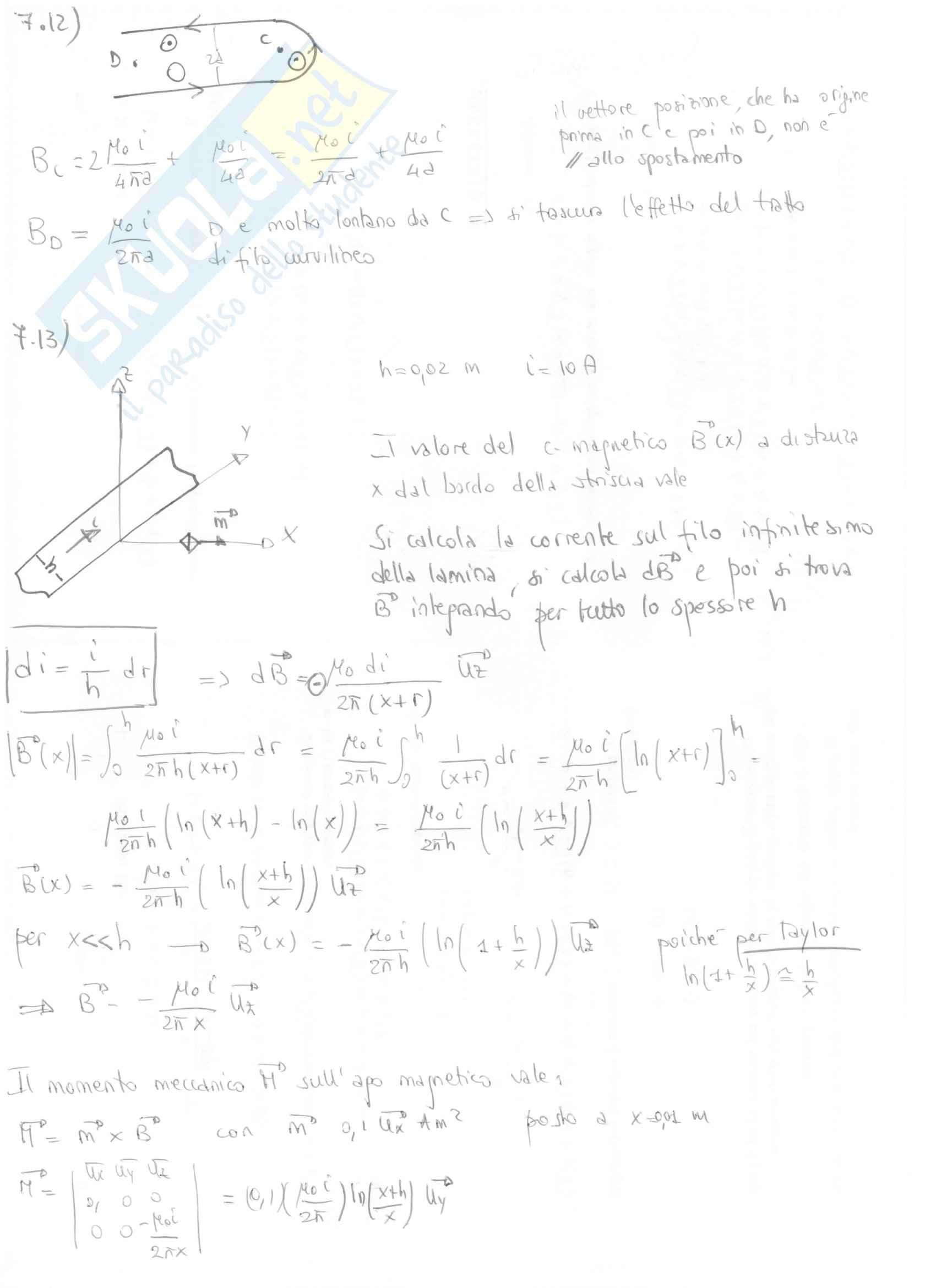 Fisica II - Esercizi svolti capitoli 7 e 8 Pag. 6