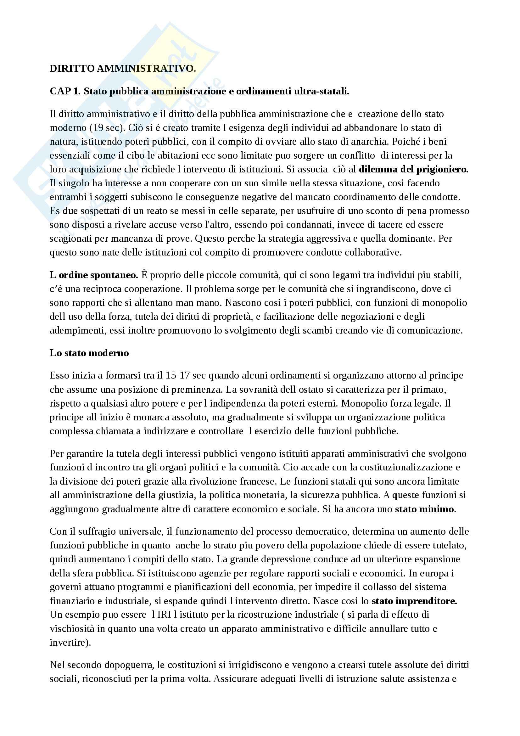 Riassunto esame diritto amministrativo, prof. Napolitano, libro consigliato La logica del diritto amministrativo, Napolitano