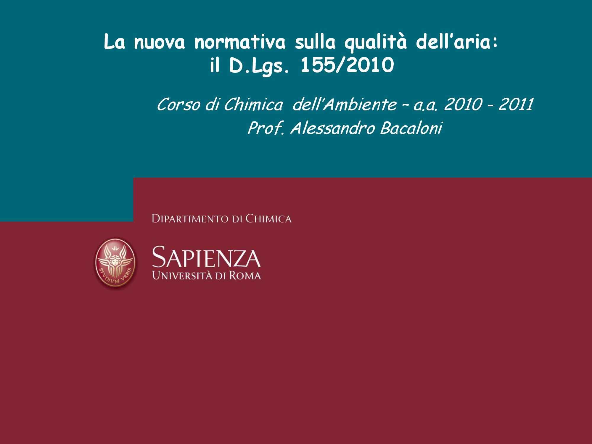 Analisi del D. Lgs. 155/2010