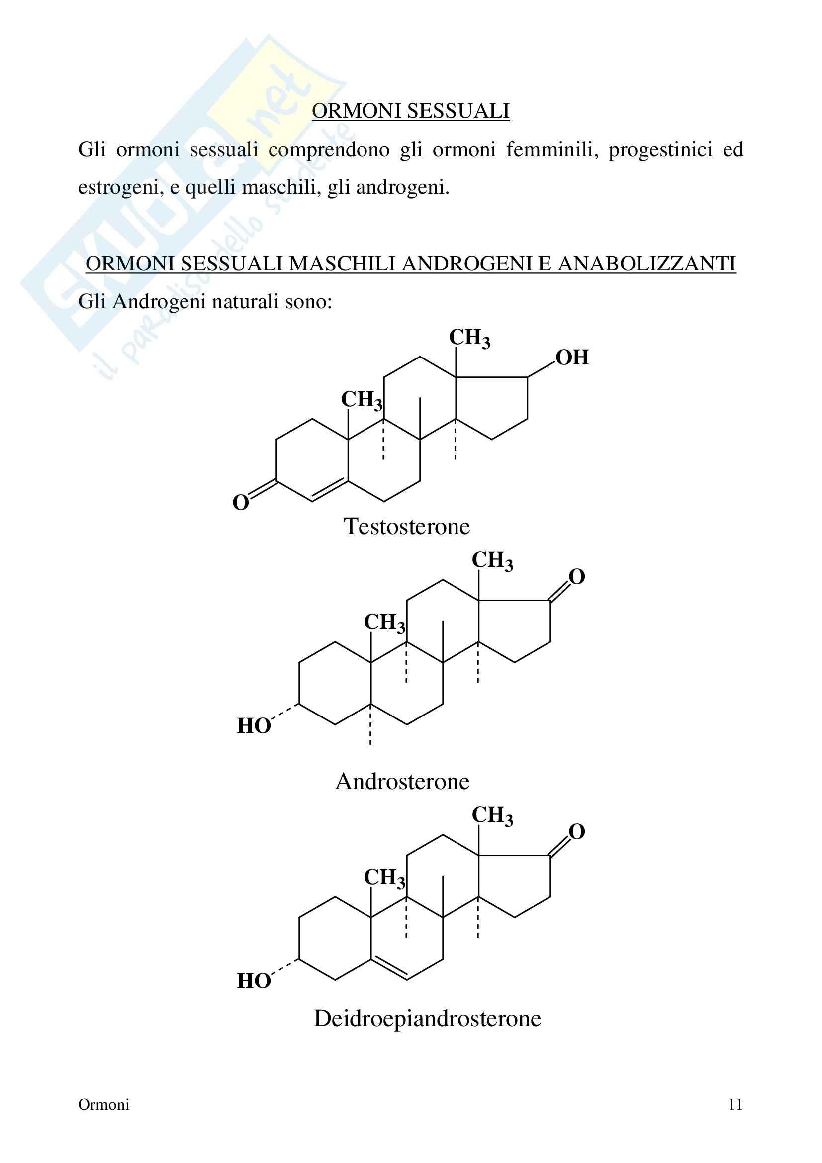 Chimica farmaceutica - ormoni Pag. 11