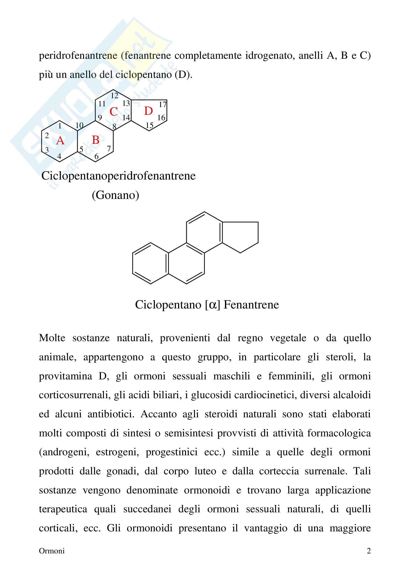 Chimica farmaceutica - ormoni Pag. 2