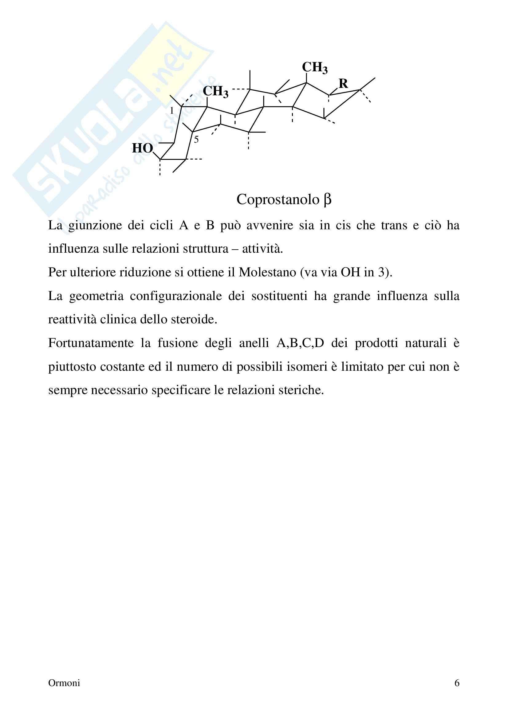 Chimica farmaceutica - ormoni Pag. 6