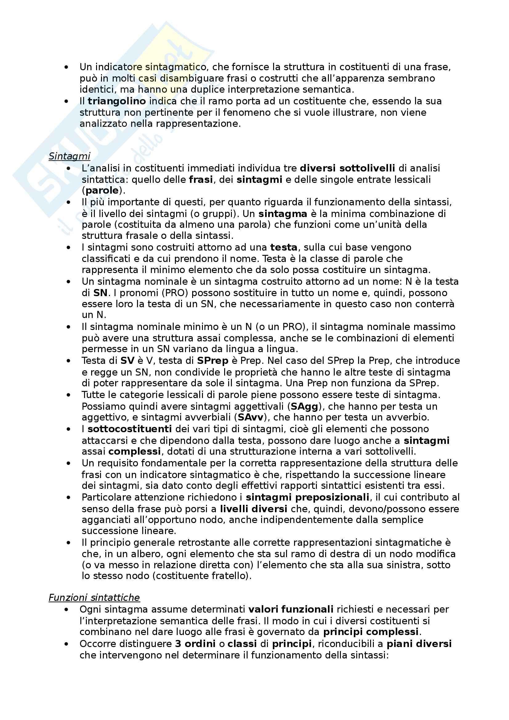 Riassunto esame Glottologia, prof. Bonfadini, libro consigliato La Linguistica: Un Corso Introduttivo, Berruto, Cerruti - cap. 4 Pag. 2