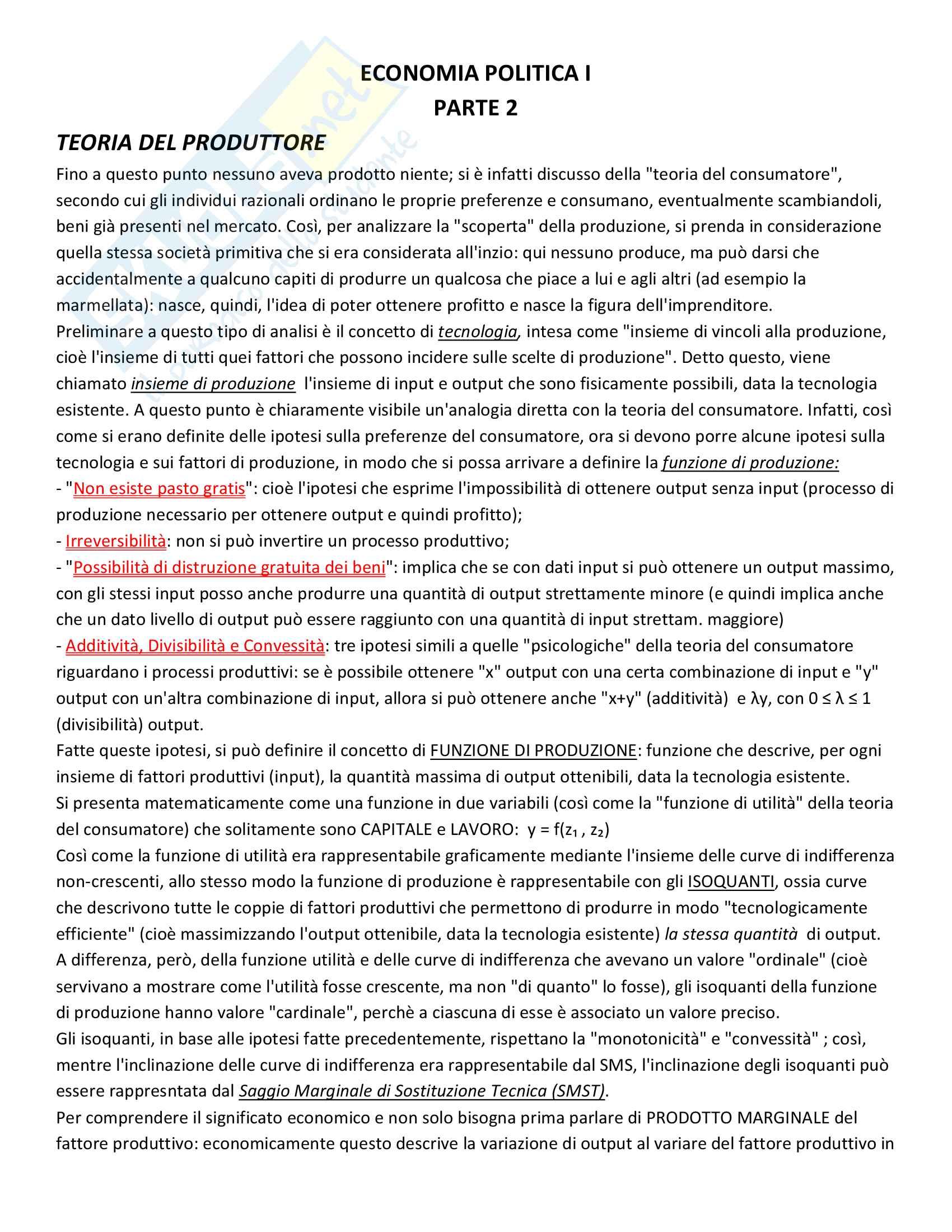 appunto F. Colombo Economia politica