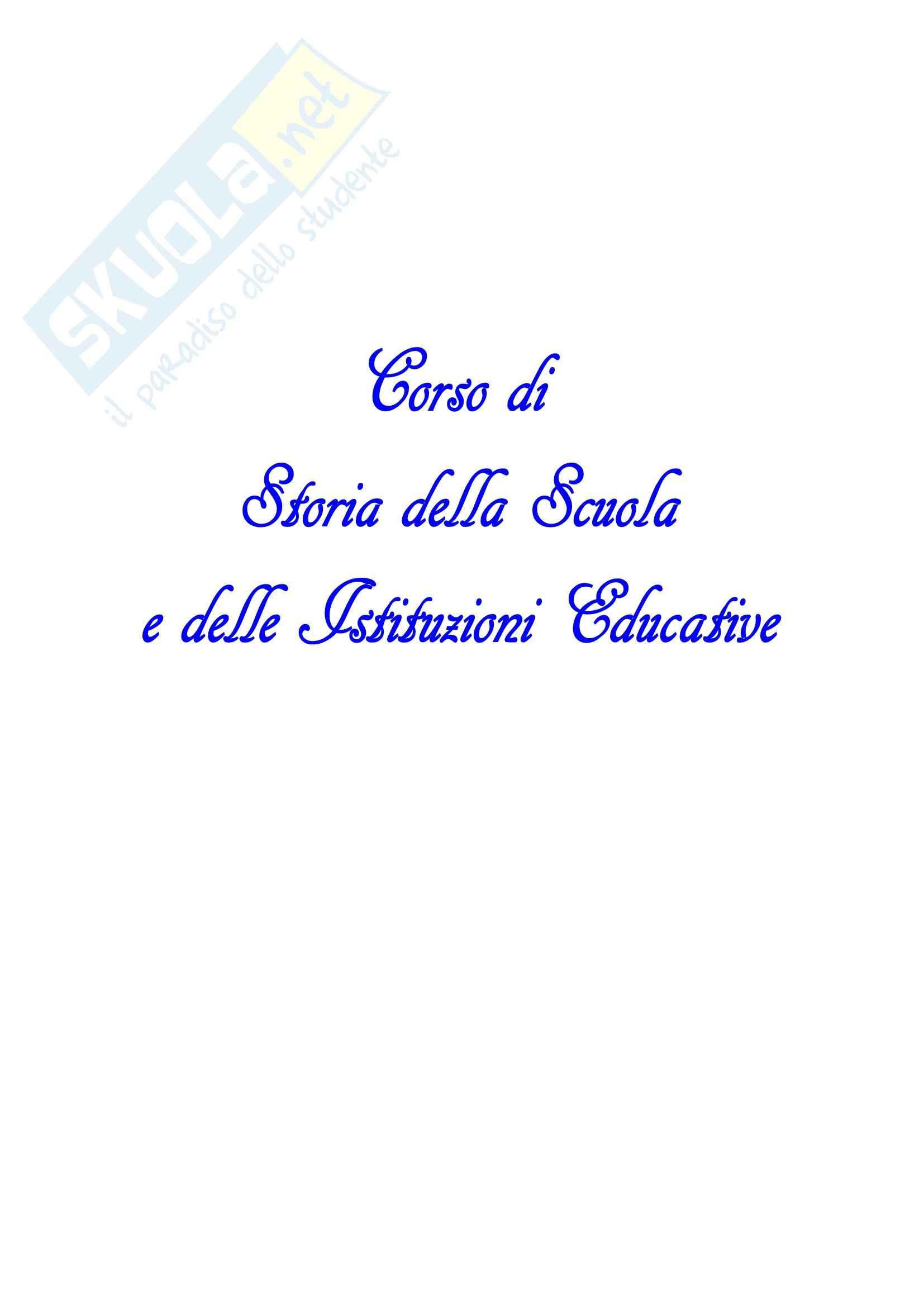 Riassunto esame Storia della scuola, prof. D'Alessio, libro consigliato Scuola e società nell'Italia unita, Pazzaglia, Sani