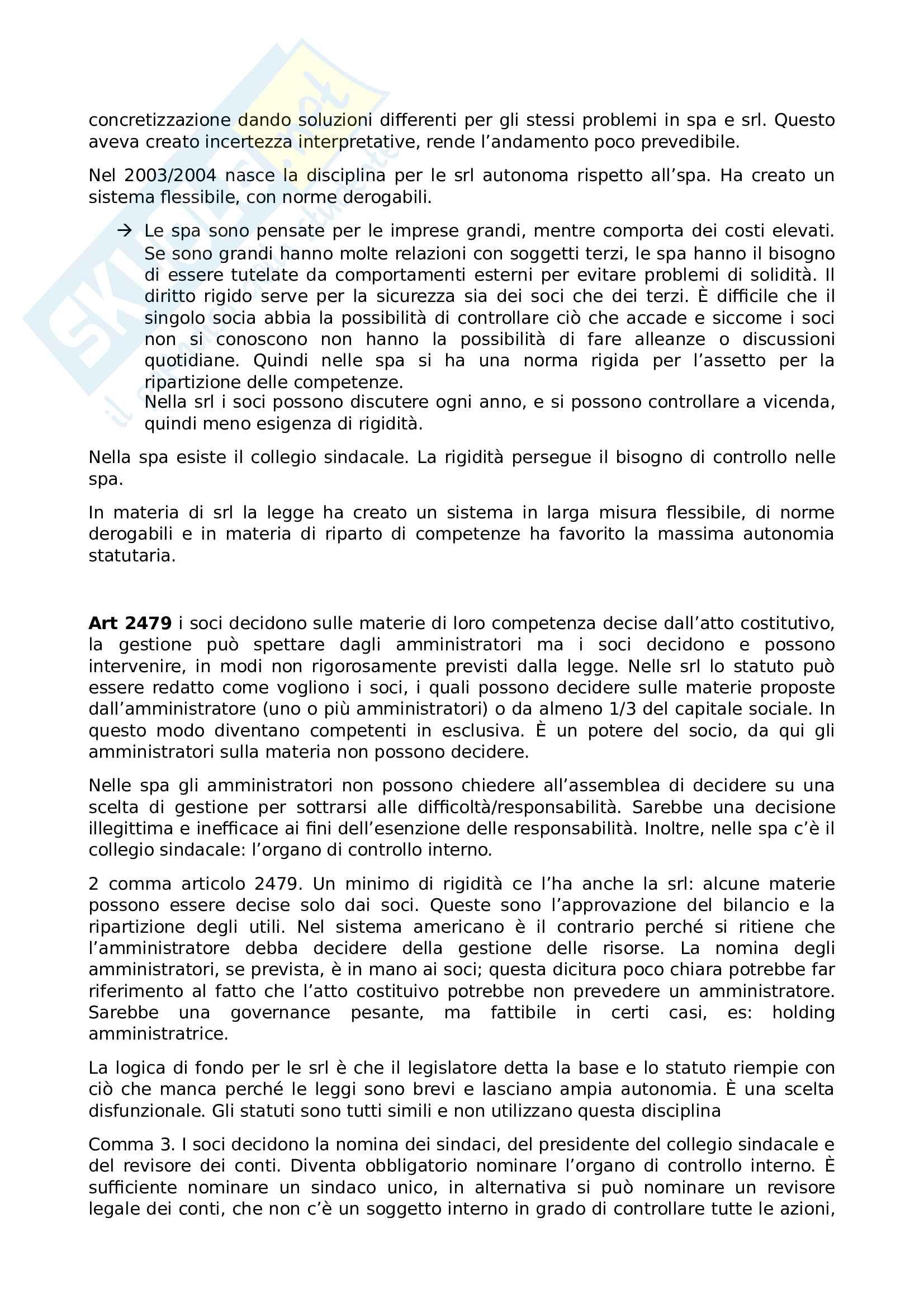Appunti lezione diritto commerciale progredito Pag. 2