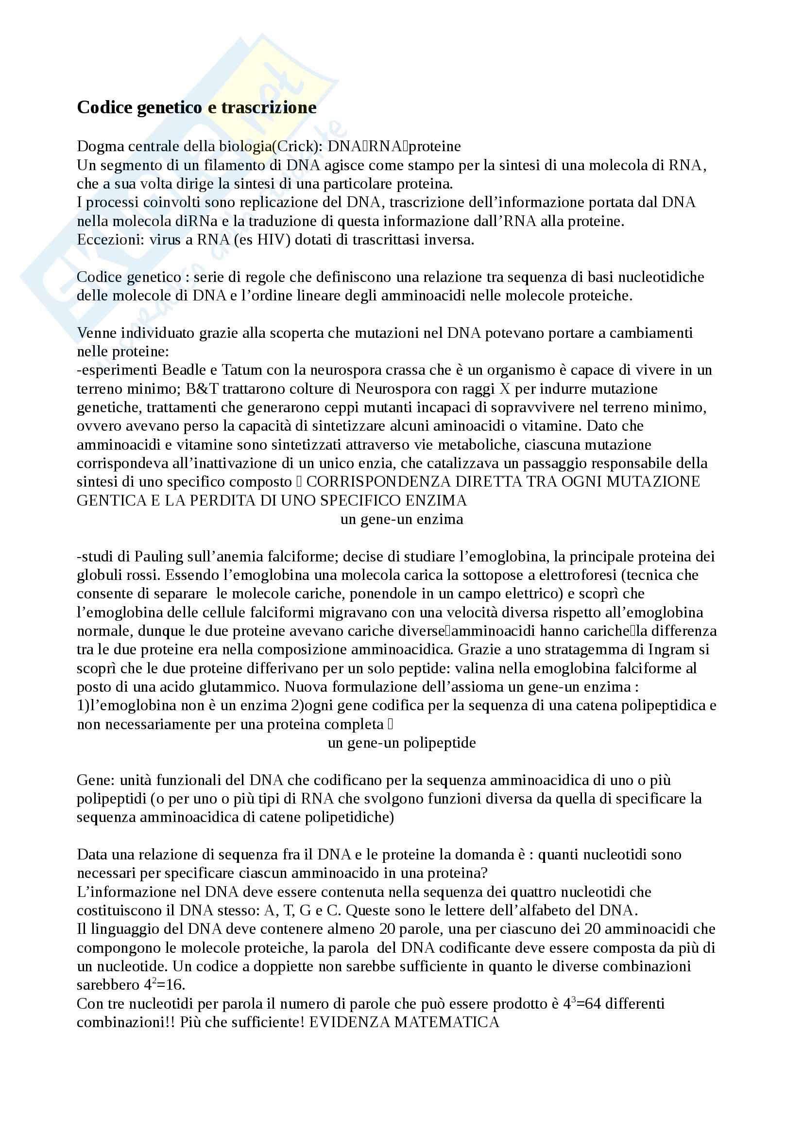 Riassunto esame biologia, prof Modesti, prof. Modesti, libro consigliato Il mondo della cellula di Becker