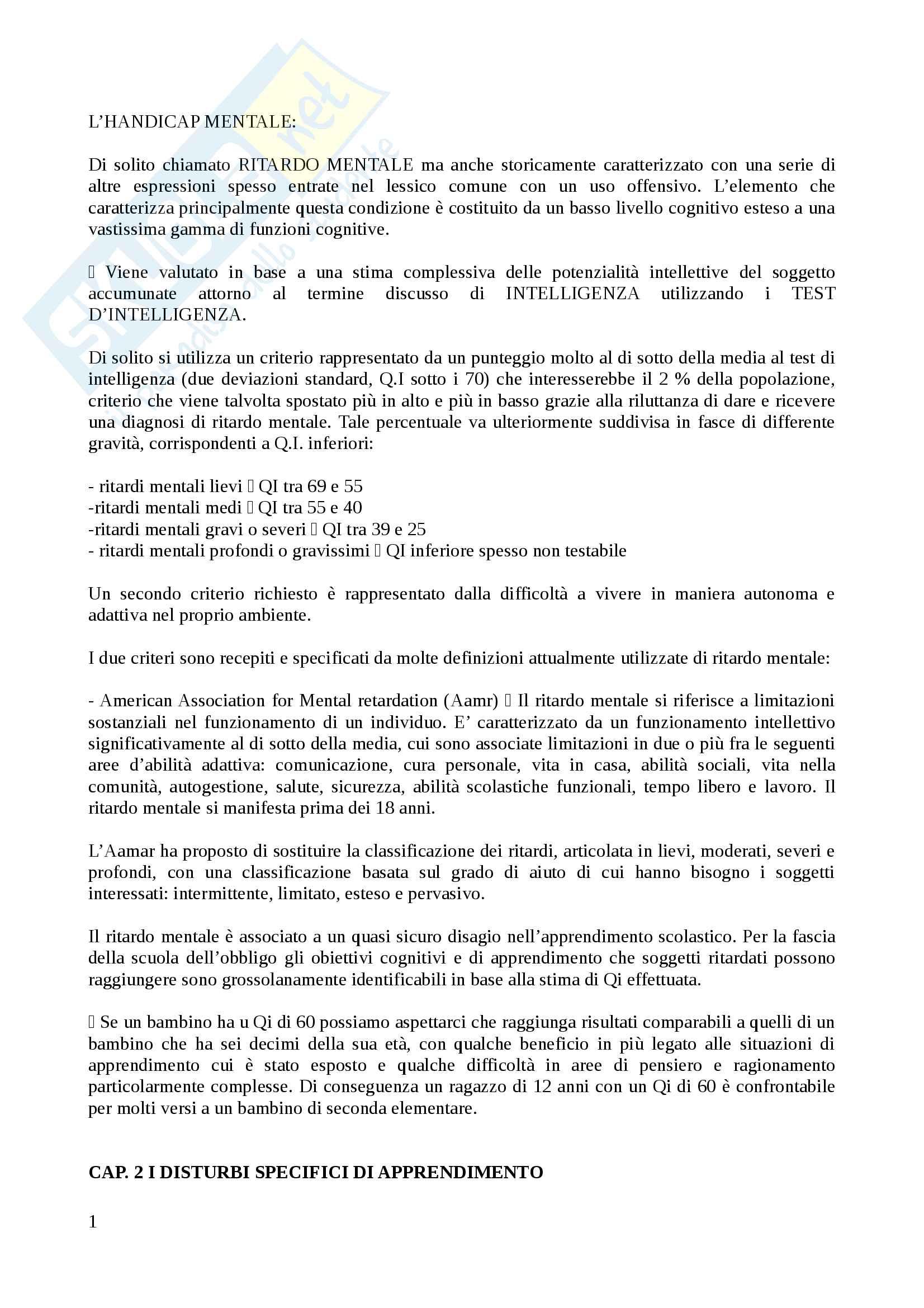 Riassunto esame Metodi e tecniche dei processi di apprendimento, docente Giorgietti, libro consigliato Difficoltà e disturbi dell' apprendimento, Cornoldi