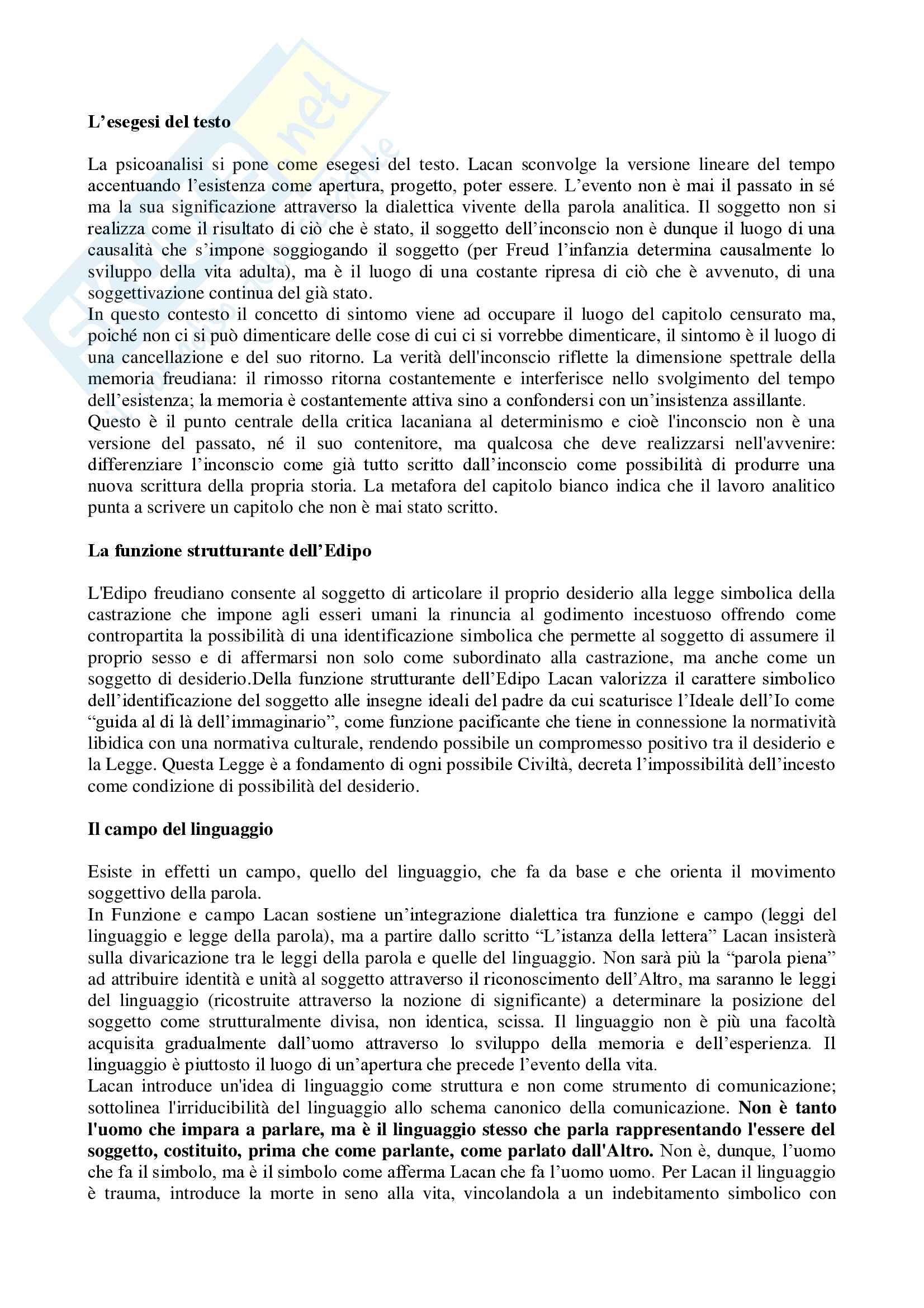 Riassunto esame Psicologia della devianza, Prof. Lo Castro, testo consigliato Massimo Recalcati -Jacques Lacan: desiderio, godimento e soggettivazione Pag. 36