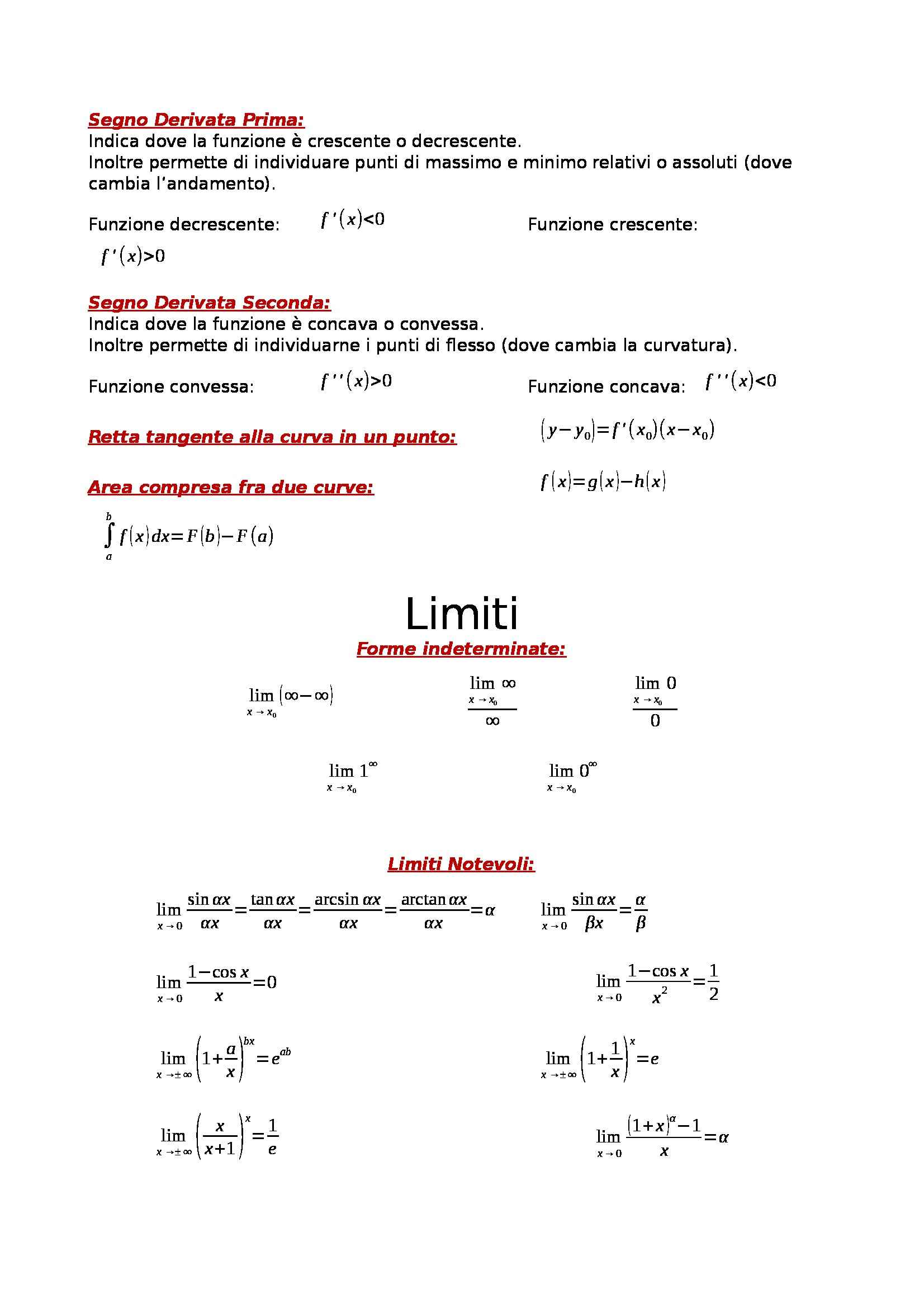 Matematica e laboratorio - formulario per studio di funzione Pag. 2