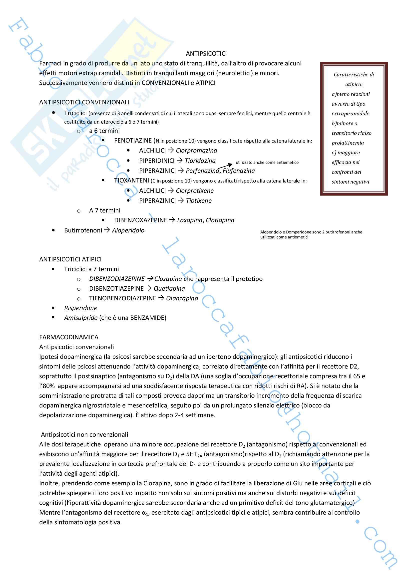 Riassunto esame Farmacologia, prof. Rossi, libro consigliato Farmacologia Pag. 2