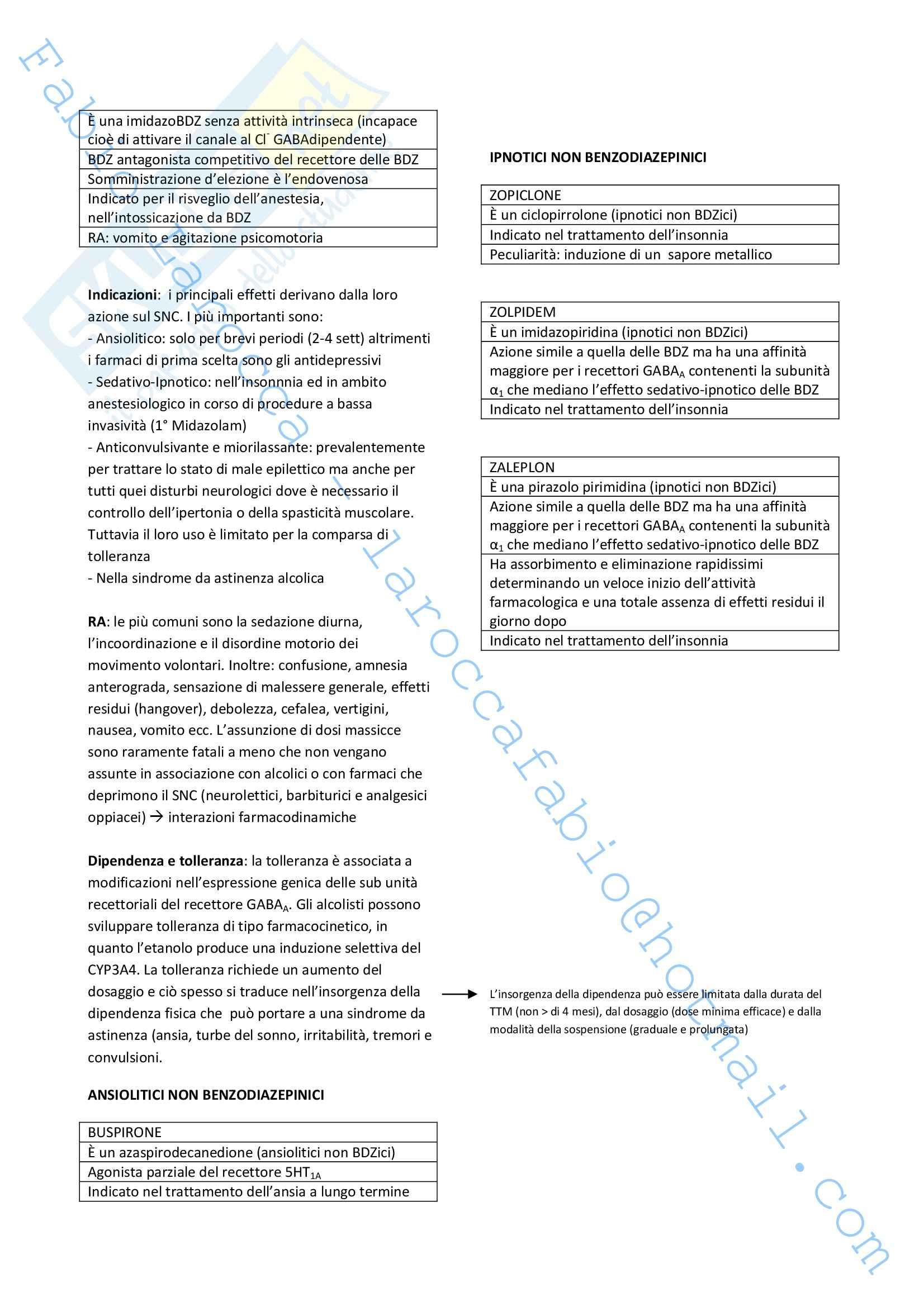 Riassunto esame Farmacologia, prof. Rossi, libro consigliato Farmacologia Pag. 6